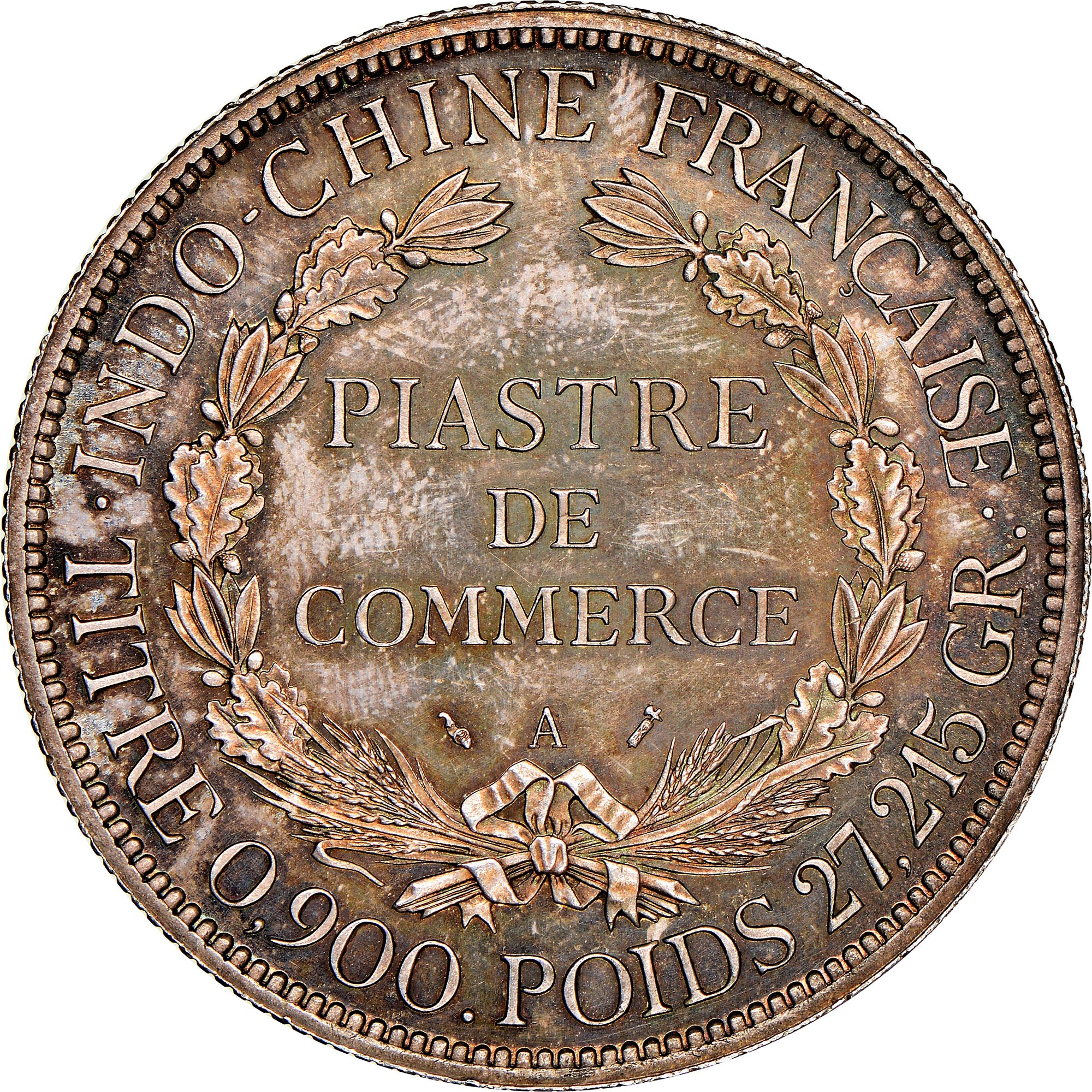 French Indo-China Piastre reverse