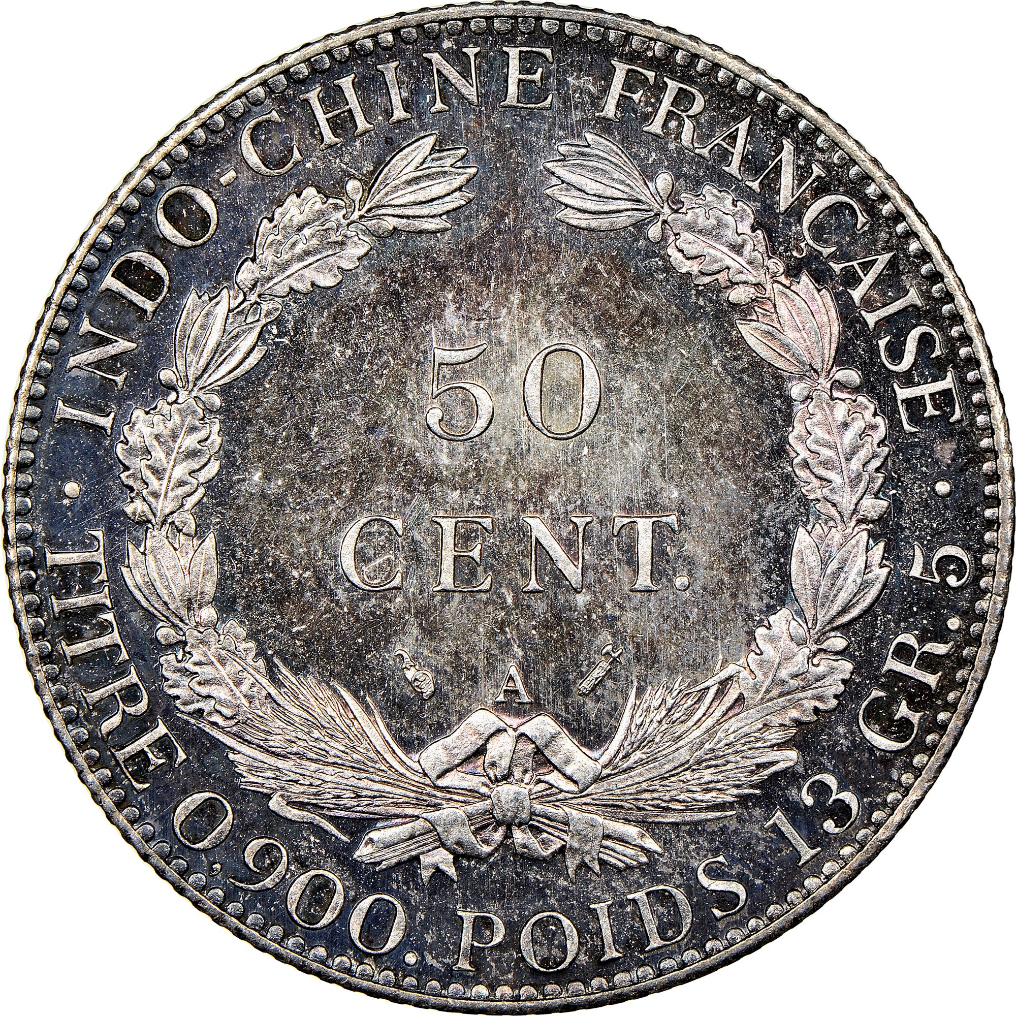 French Indo-China 50 Cents reverse