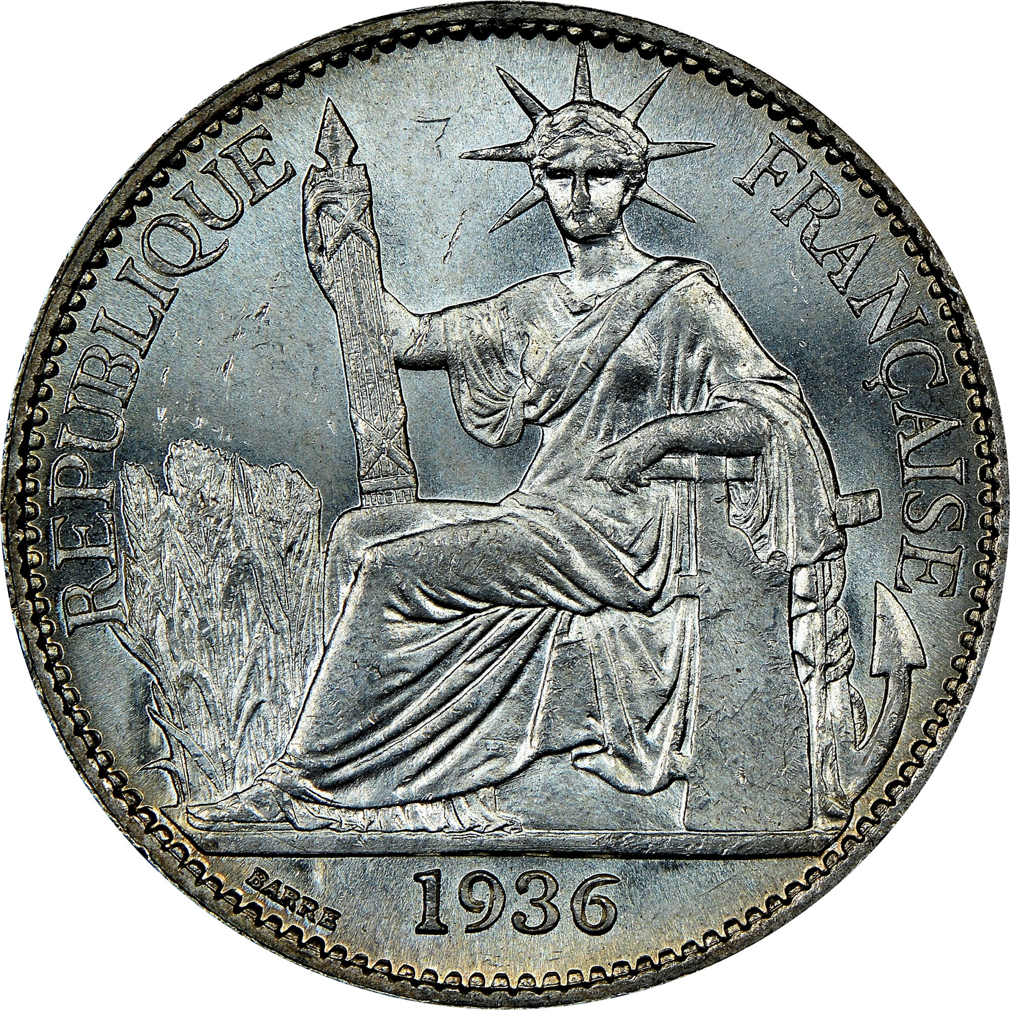 French Indo-China 50 Cents obverse