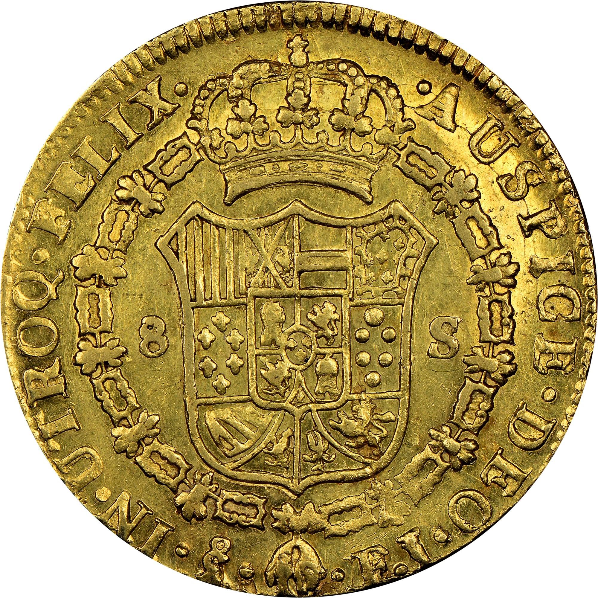 Chile 8 Escudos reverse