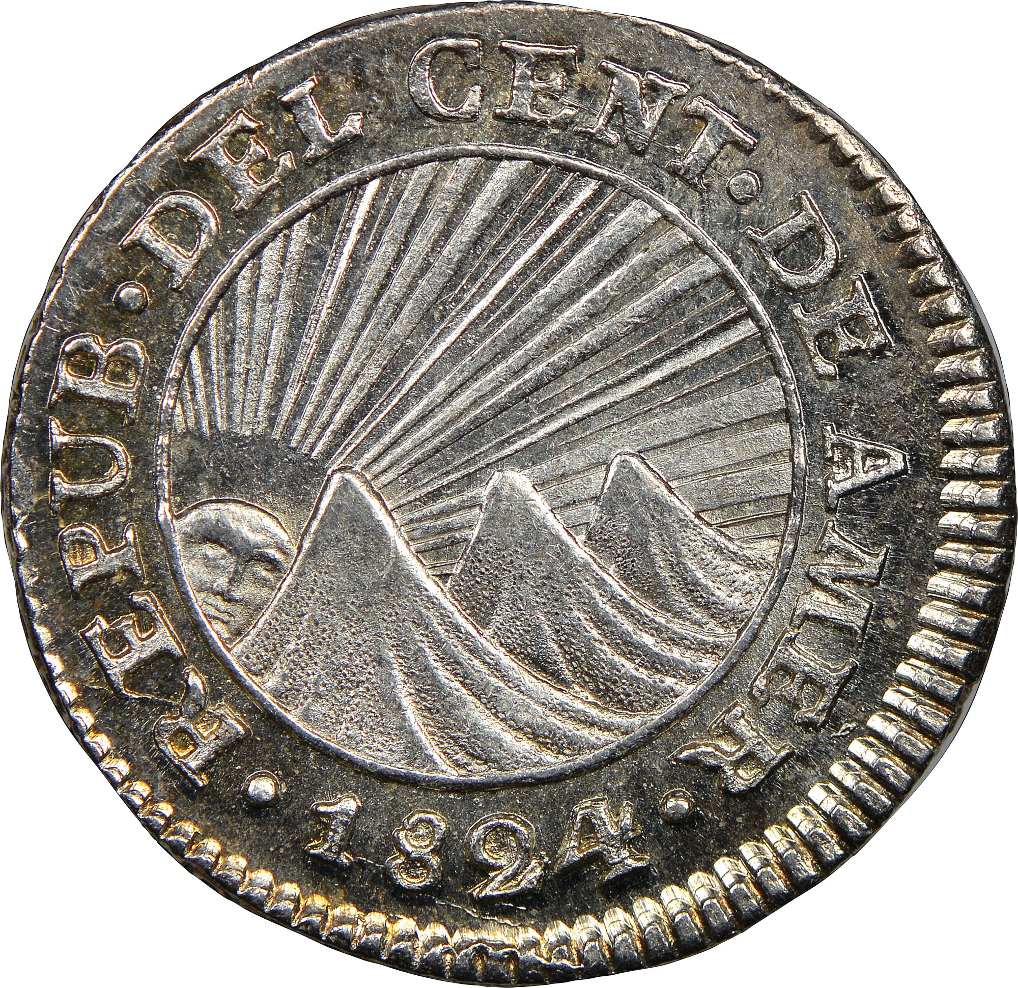 Central American Republic 1/2 Real obverse