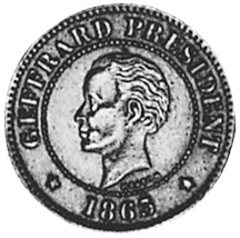 Haiti 5 Centimes reverse