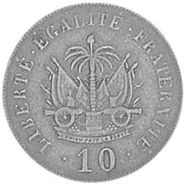 Haiti 10 Centimes reverse