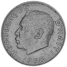 1958-1970 Haiti 10 Centimes obverse