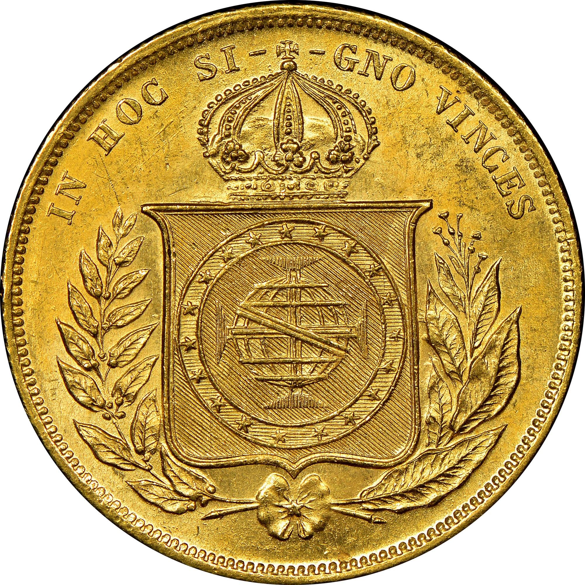 Brazil 10000 Reis reverse