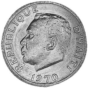 Haiti 20 Centimes obverse