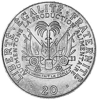 Haiti 20 Centimes reverse