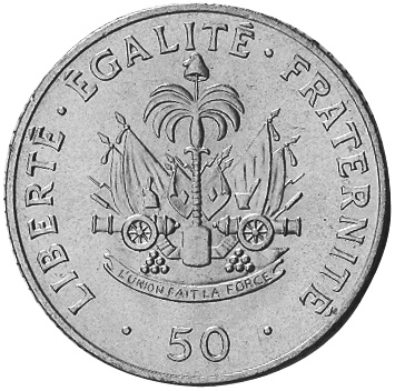 Haiti 50 Centimes reverse