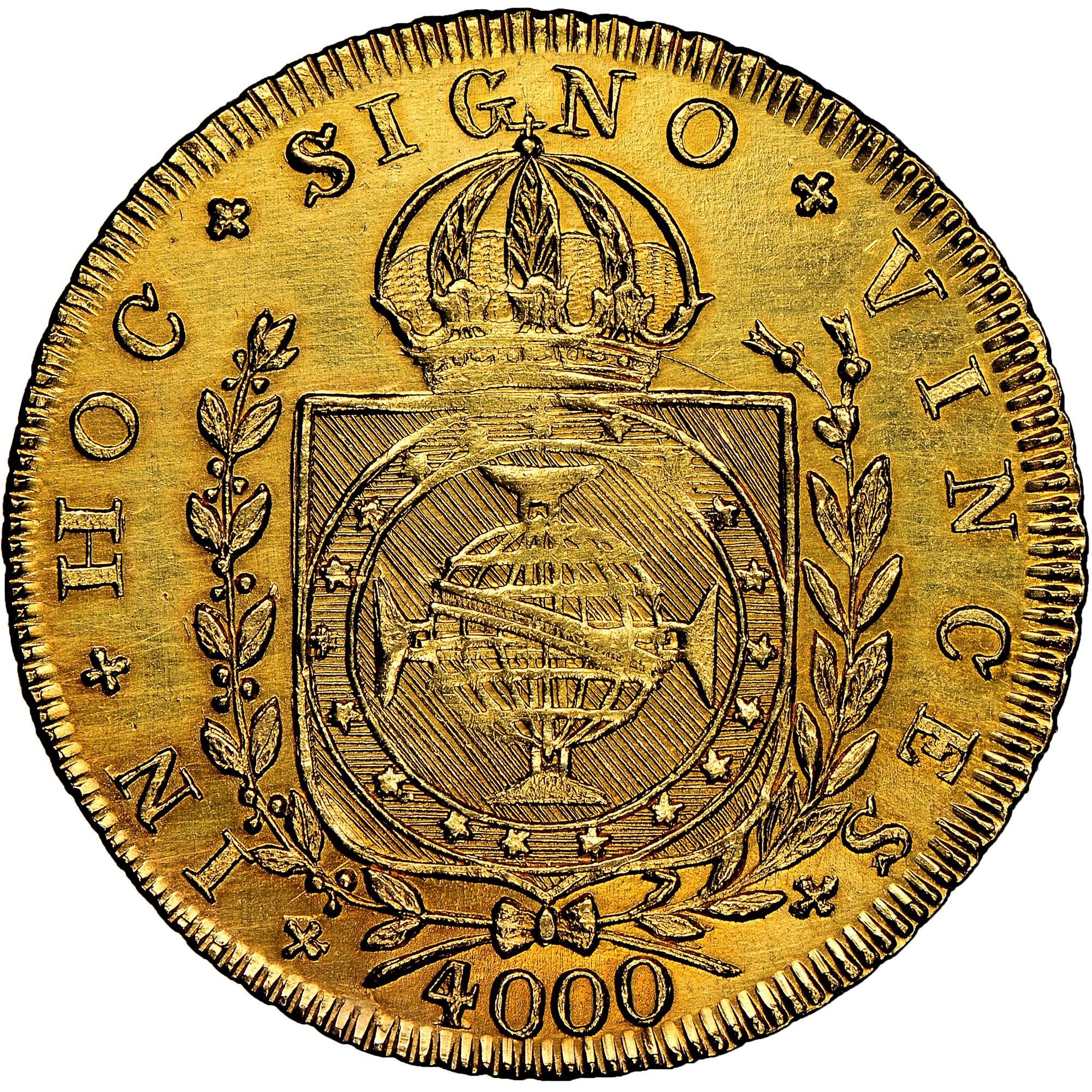Brazil 4000 Reis reverse