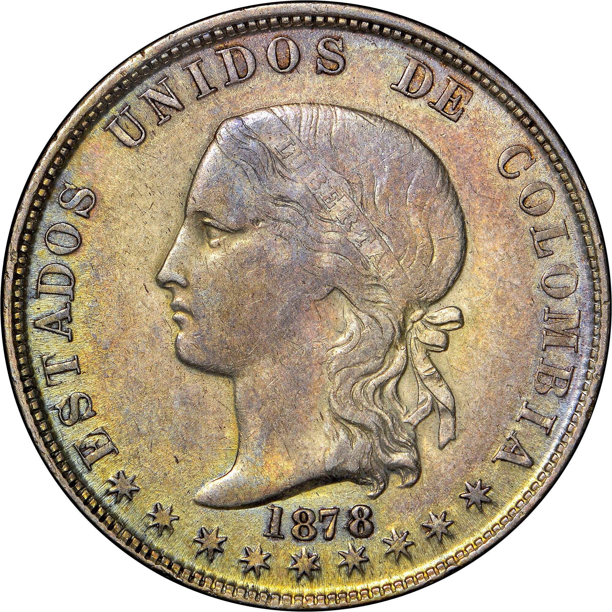 Colombia 5 Decimos obverse
