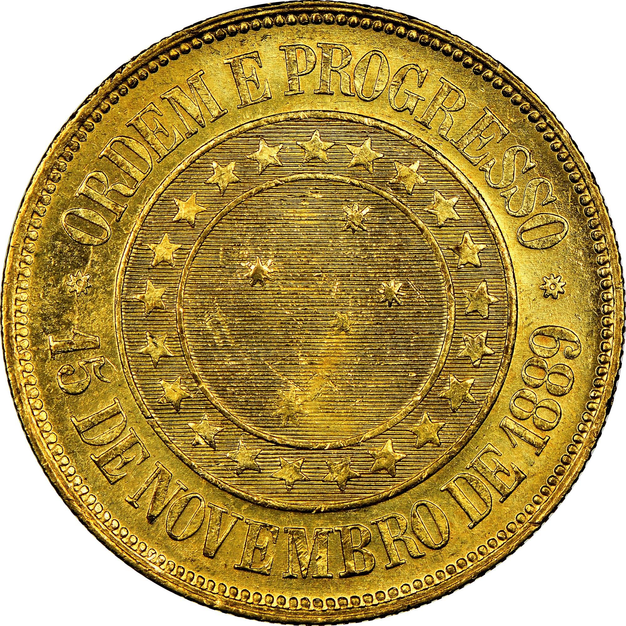 Brazil 20000 Reis reverse