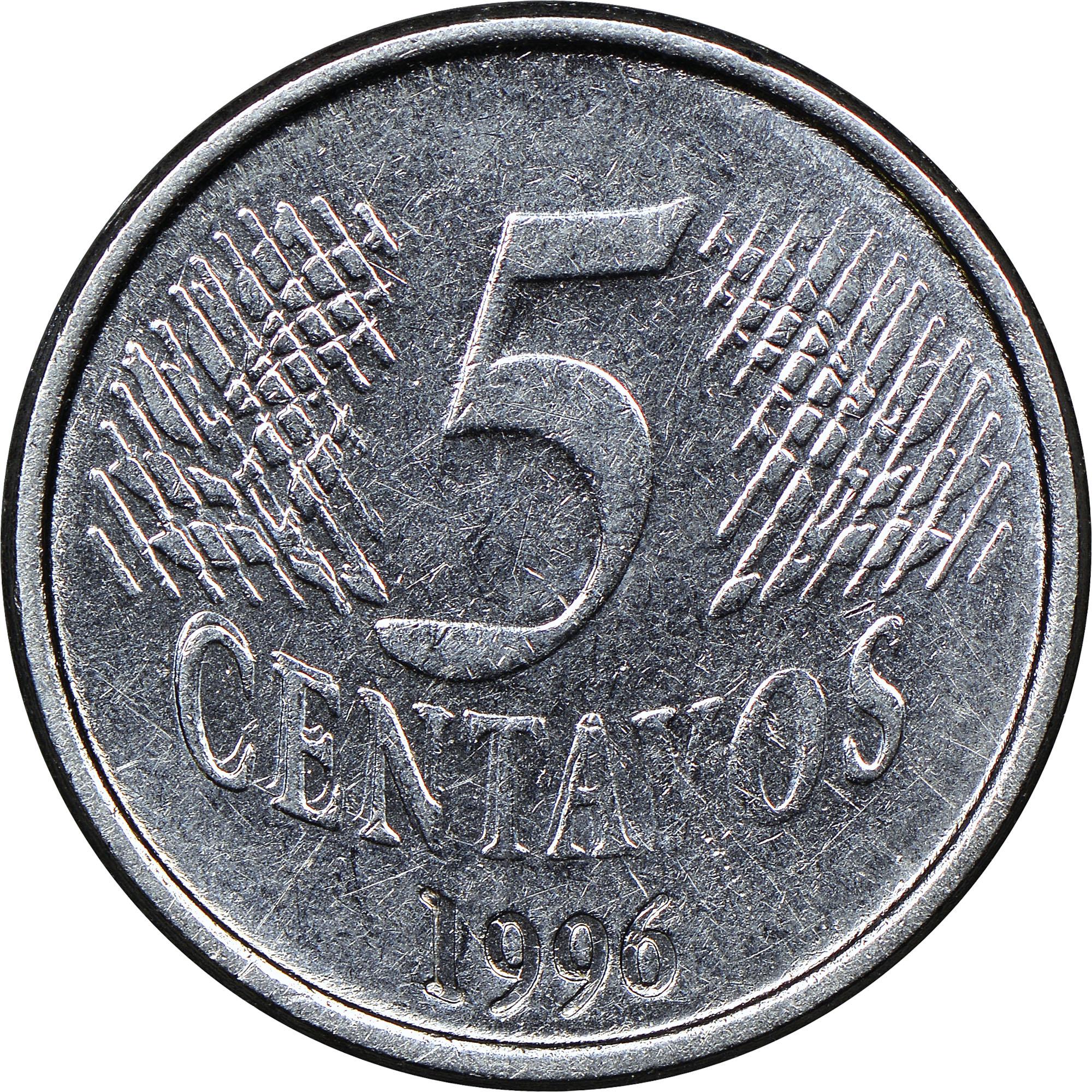 Brazil 5 Centavos reverse