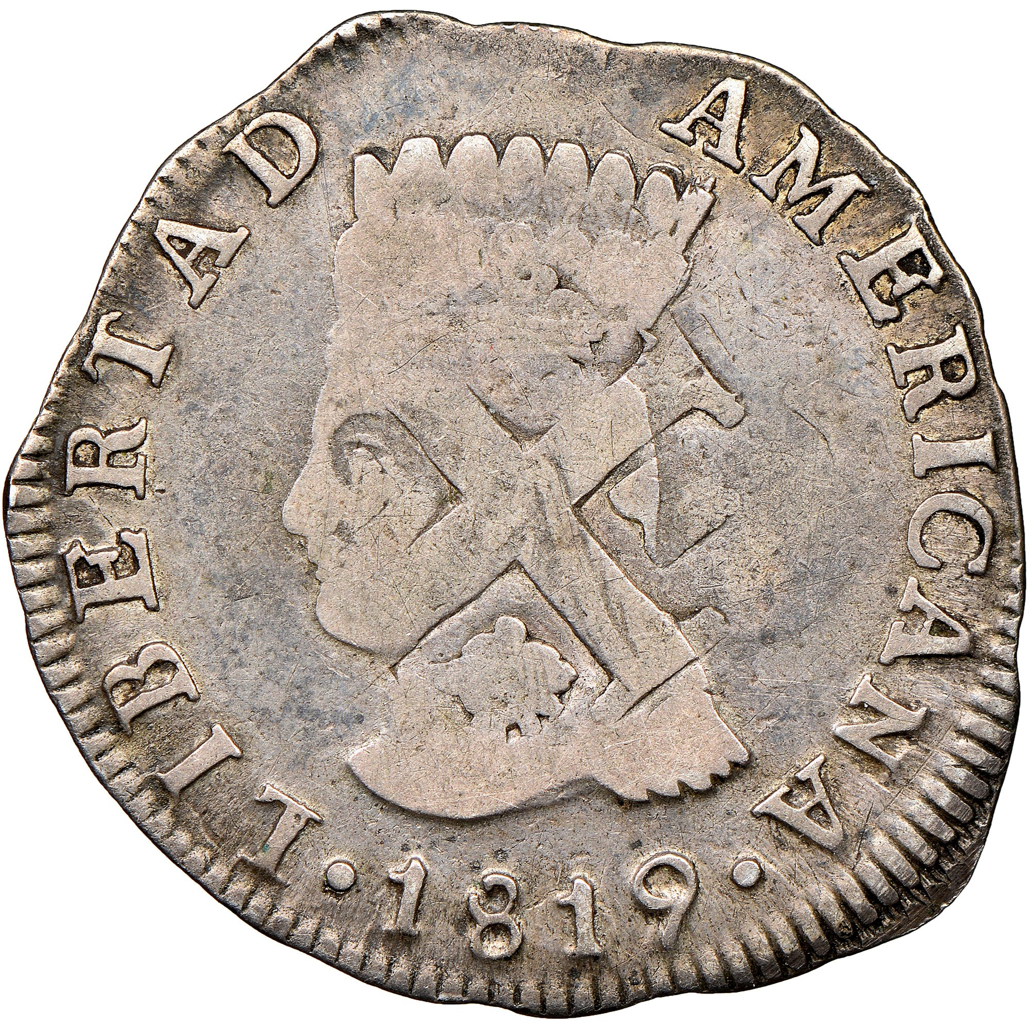 Colombia 2 Reales obverse