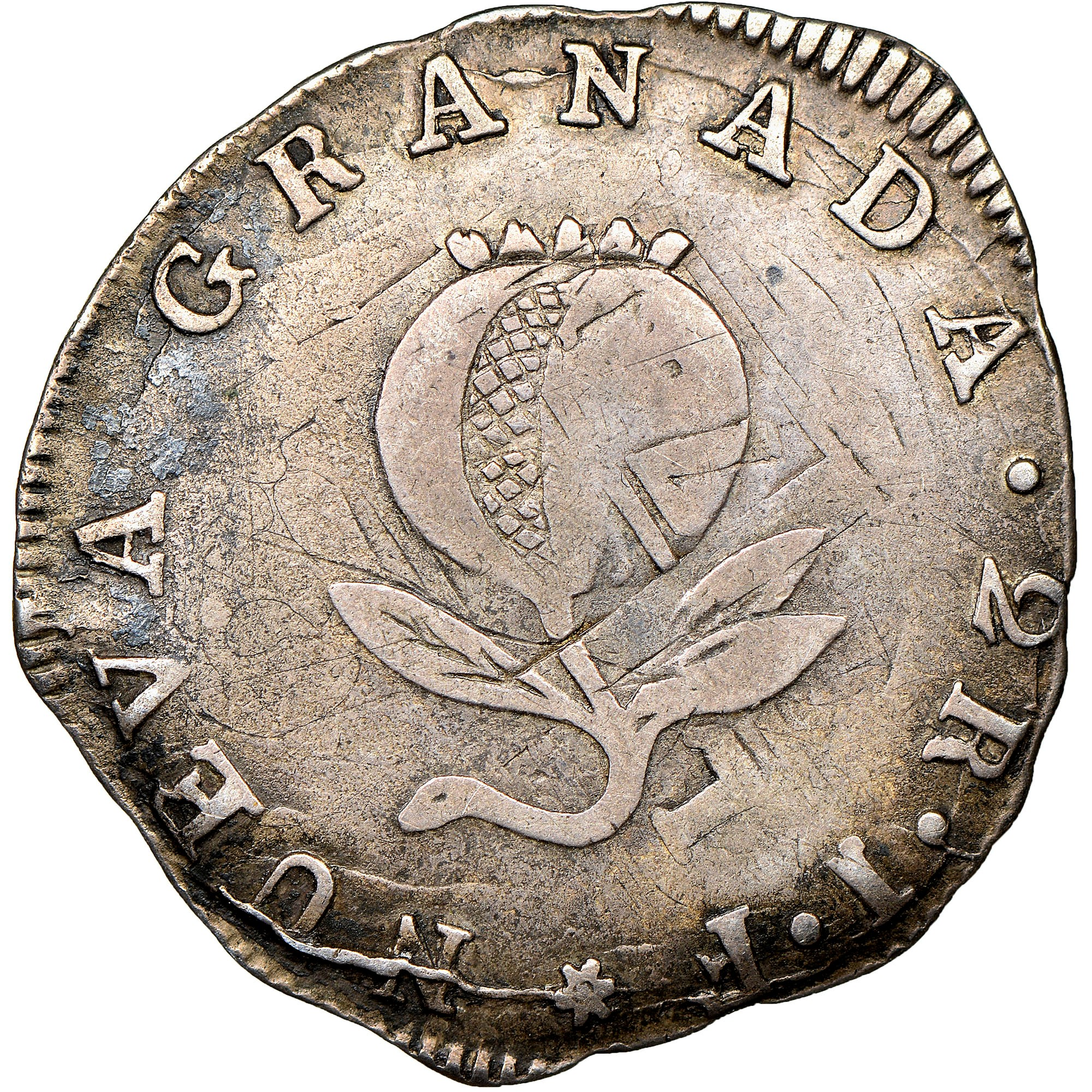 Colombia 2 Reales reverse