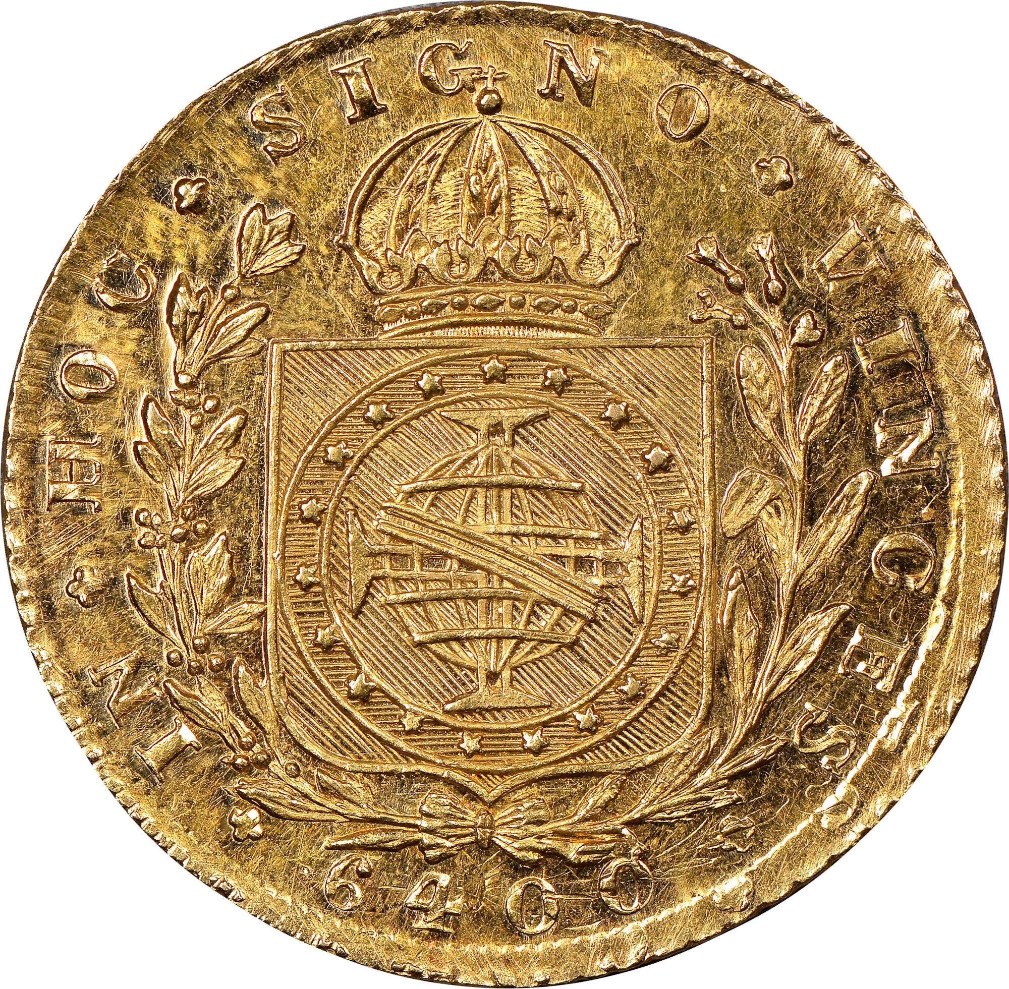 Brazil 6400 Reis reverse
