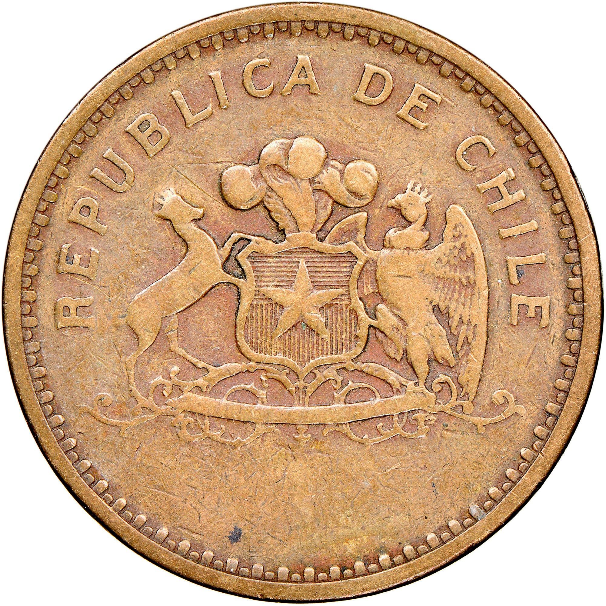 Chile 100 Pesos obverse