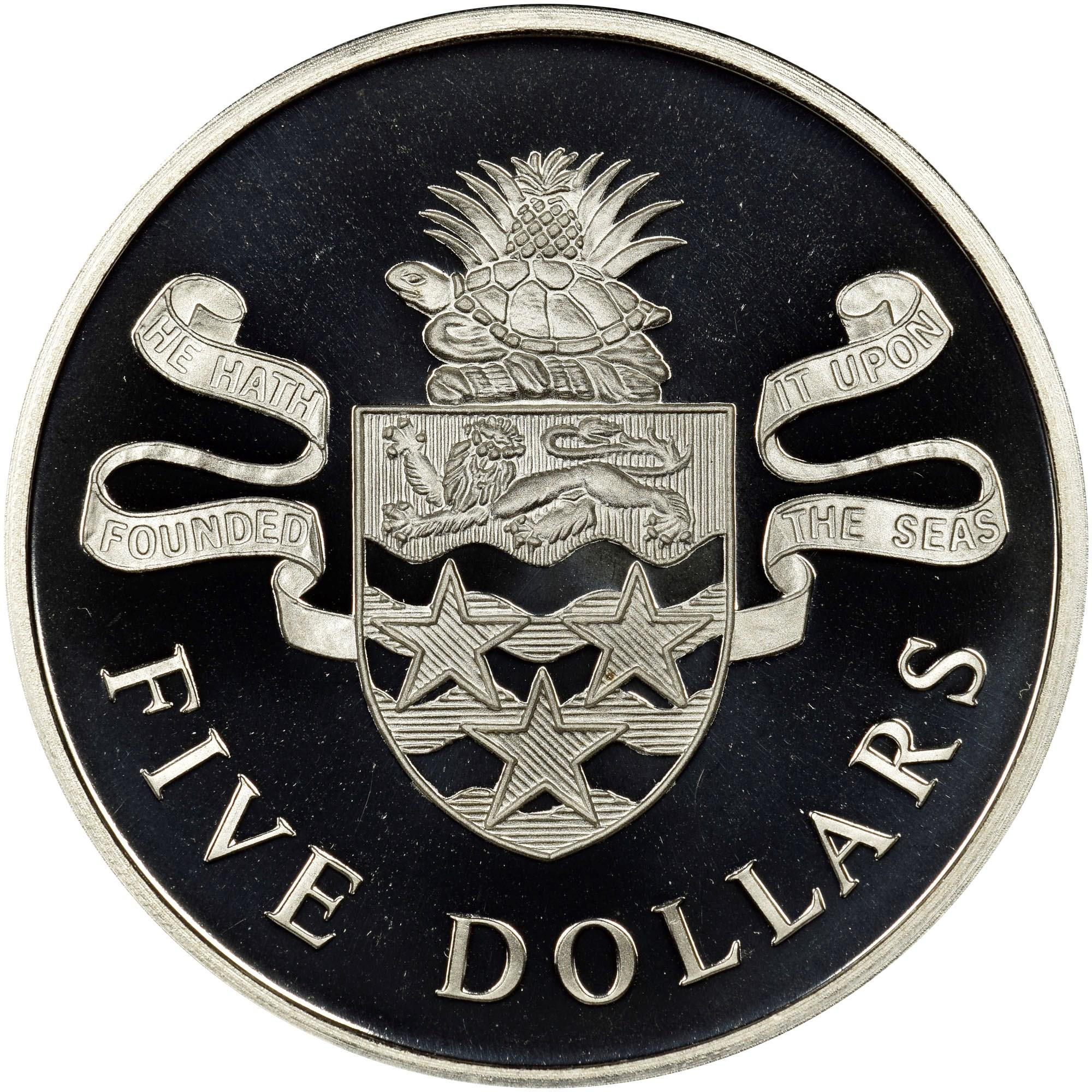 Cayman Islands 5 Dollars reverse