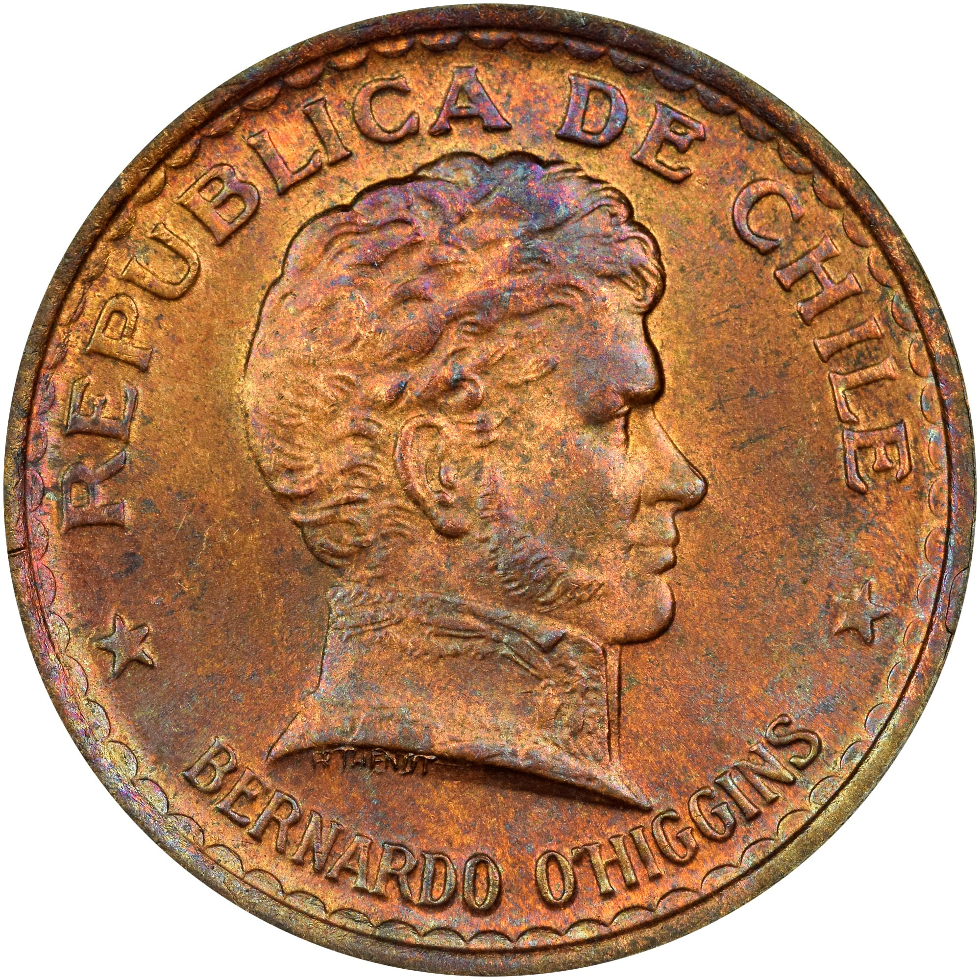 Chile 50 Centavos obverse