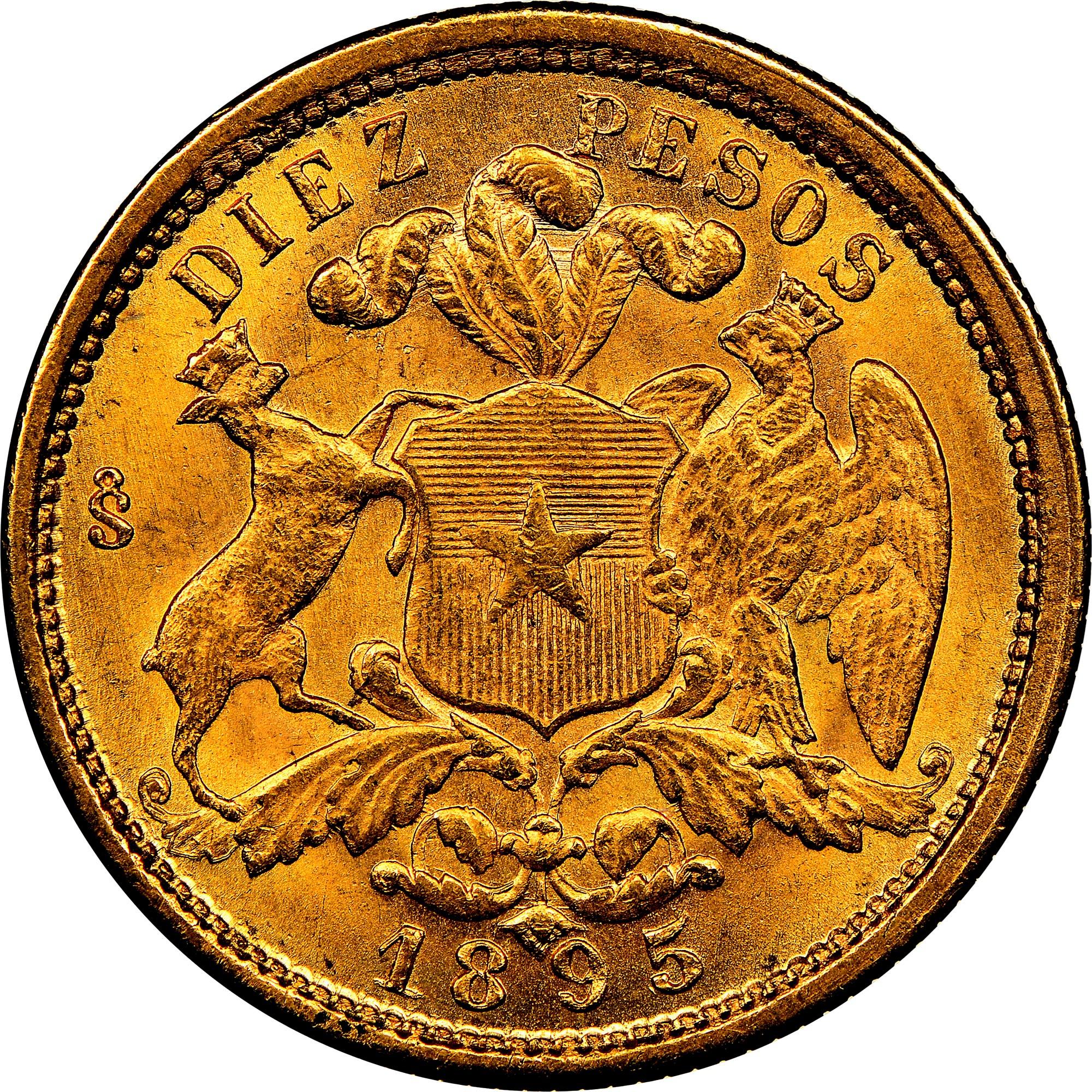 Chile 10 Pesos reverse
