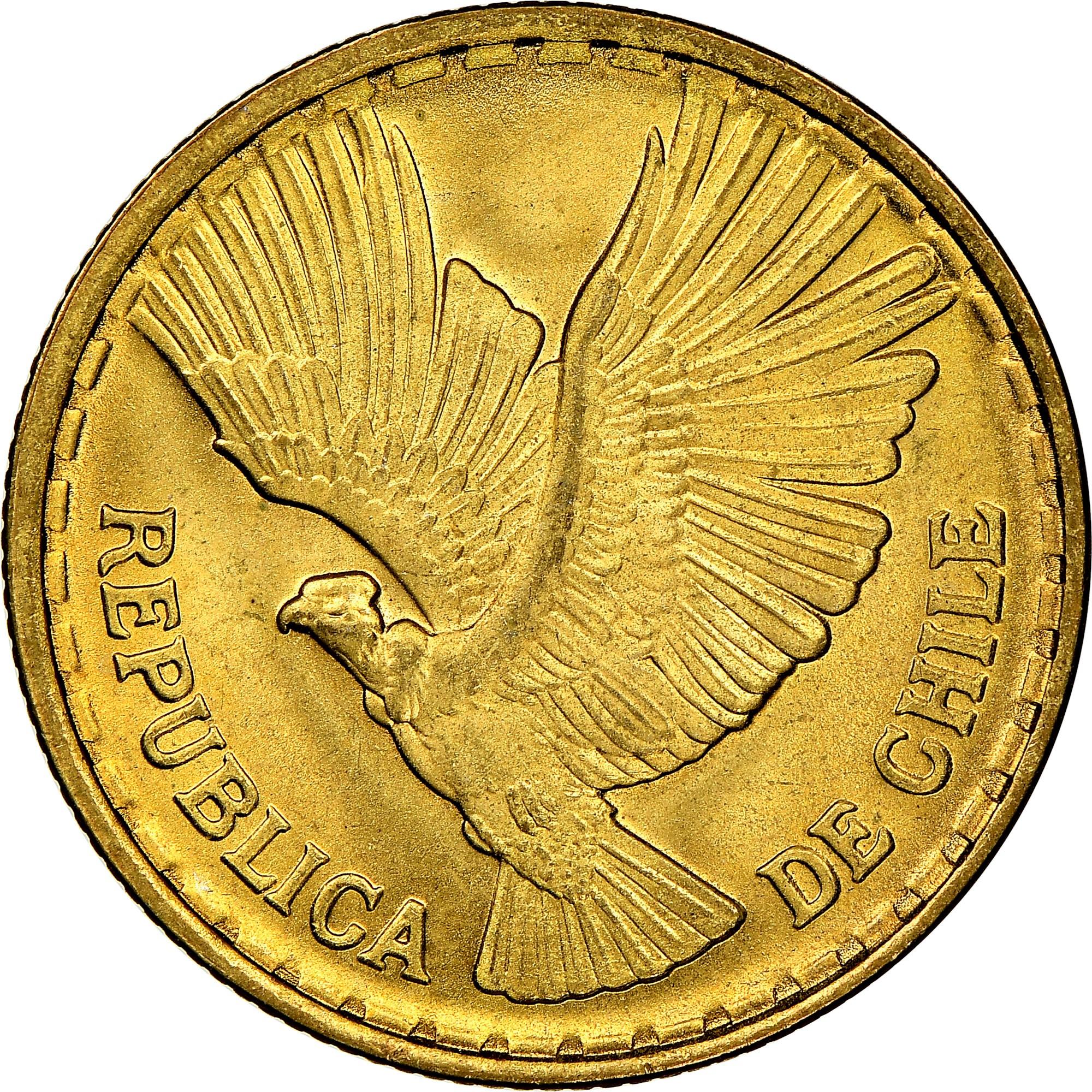 Chile 5 Centesimos obverse