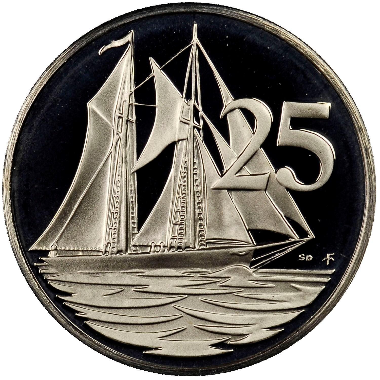 Cayman Islands 25 Cents reverse