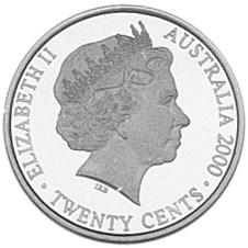 2000 Australia 20 Cents obverse