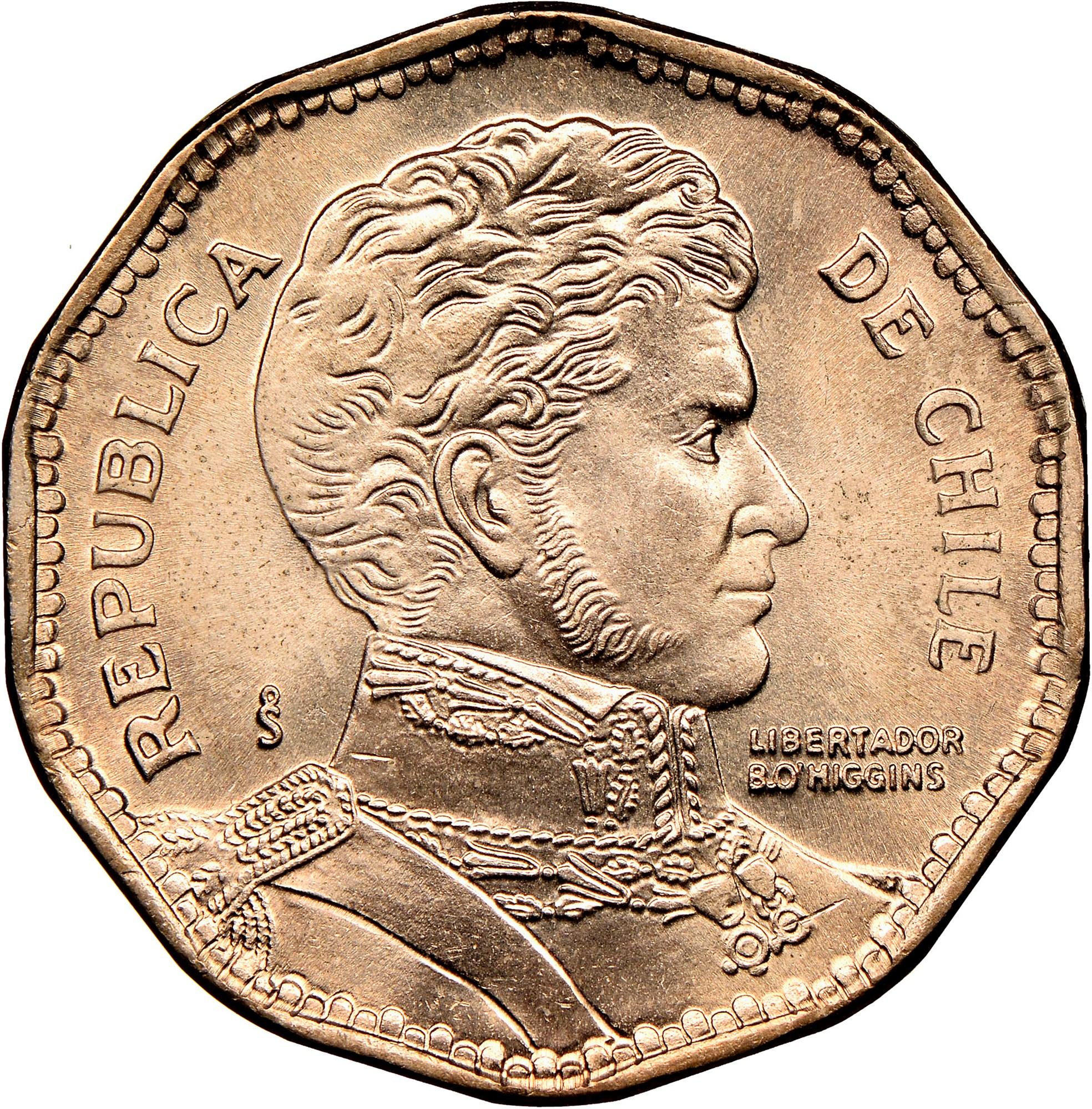 Chile 50 Pesos obverse