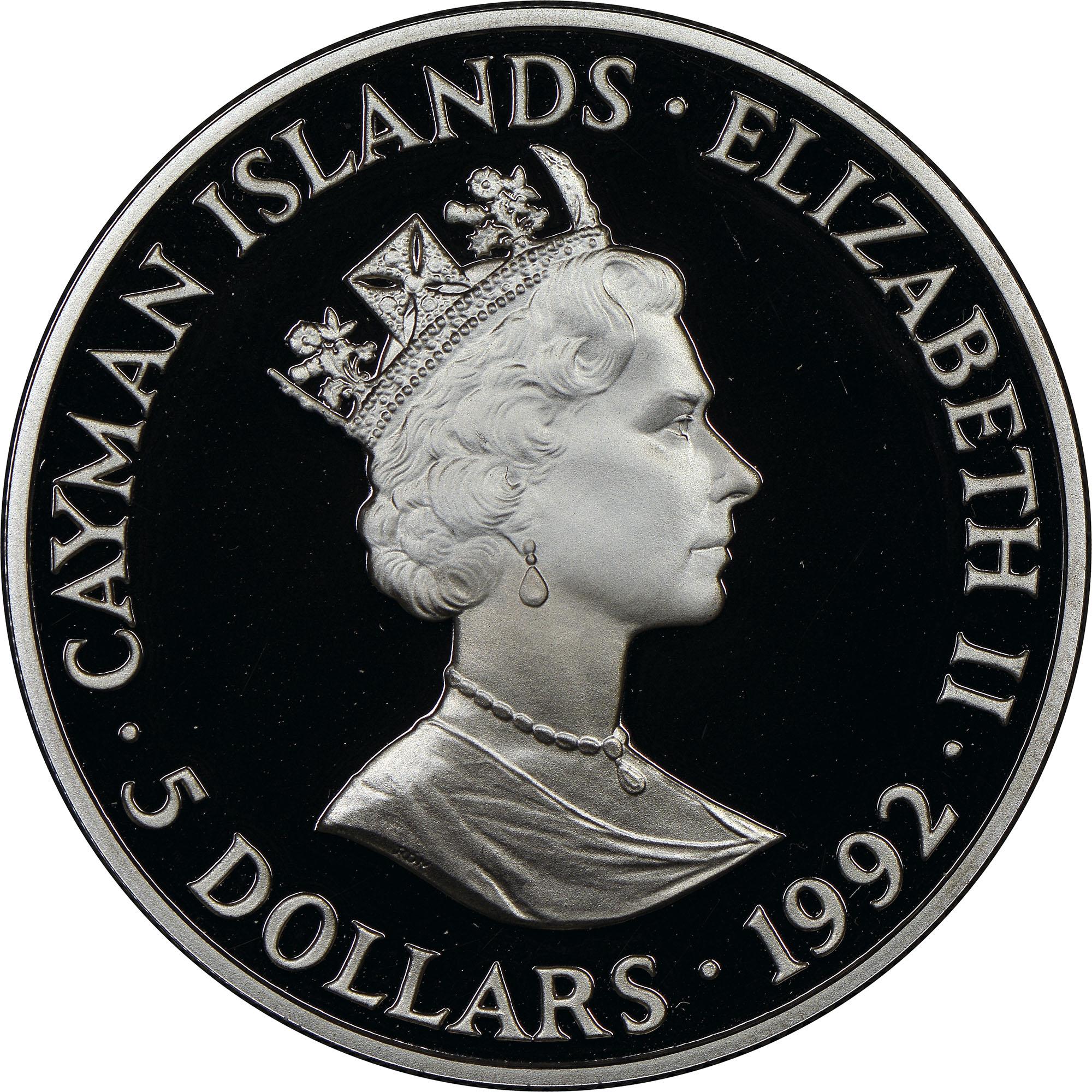 Cayman Islands 5 Dollars obverse