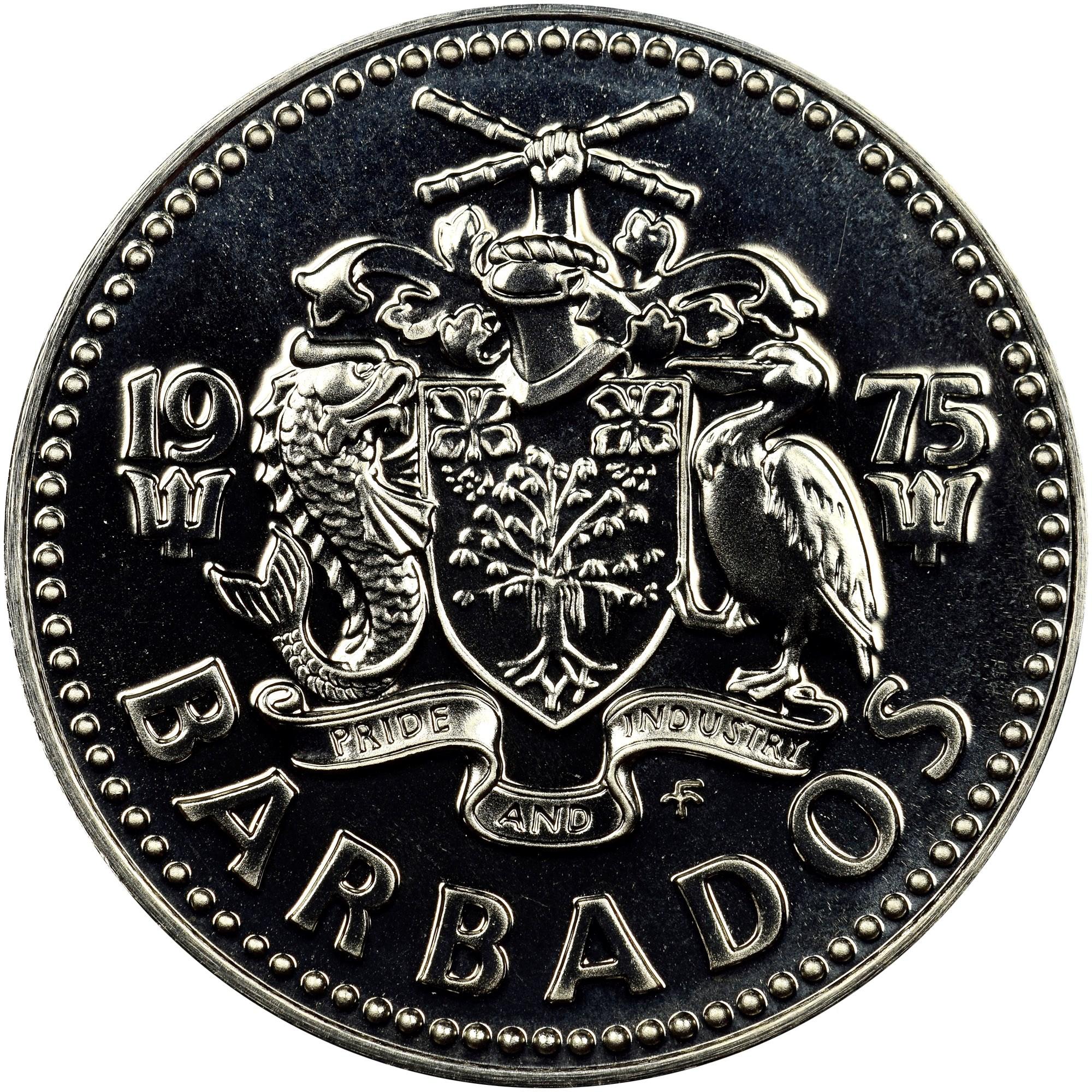 Barbados 25 Cents obverse