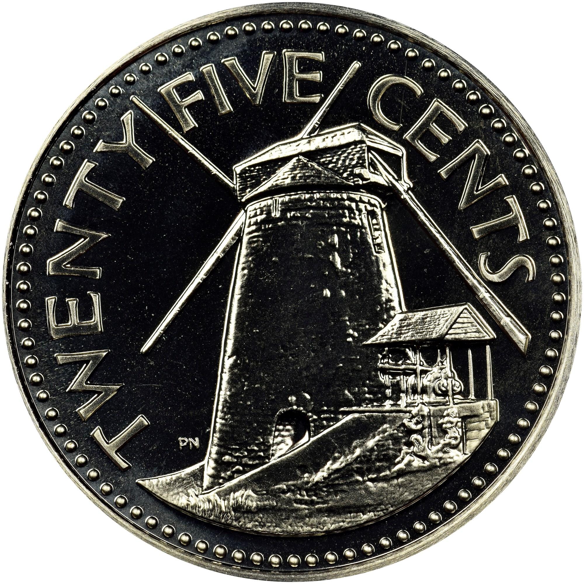25 cent barbados coin