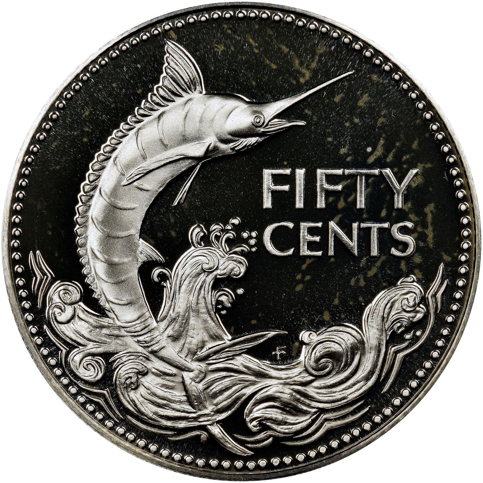 Bahamas 50 Cents reverse