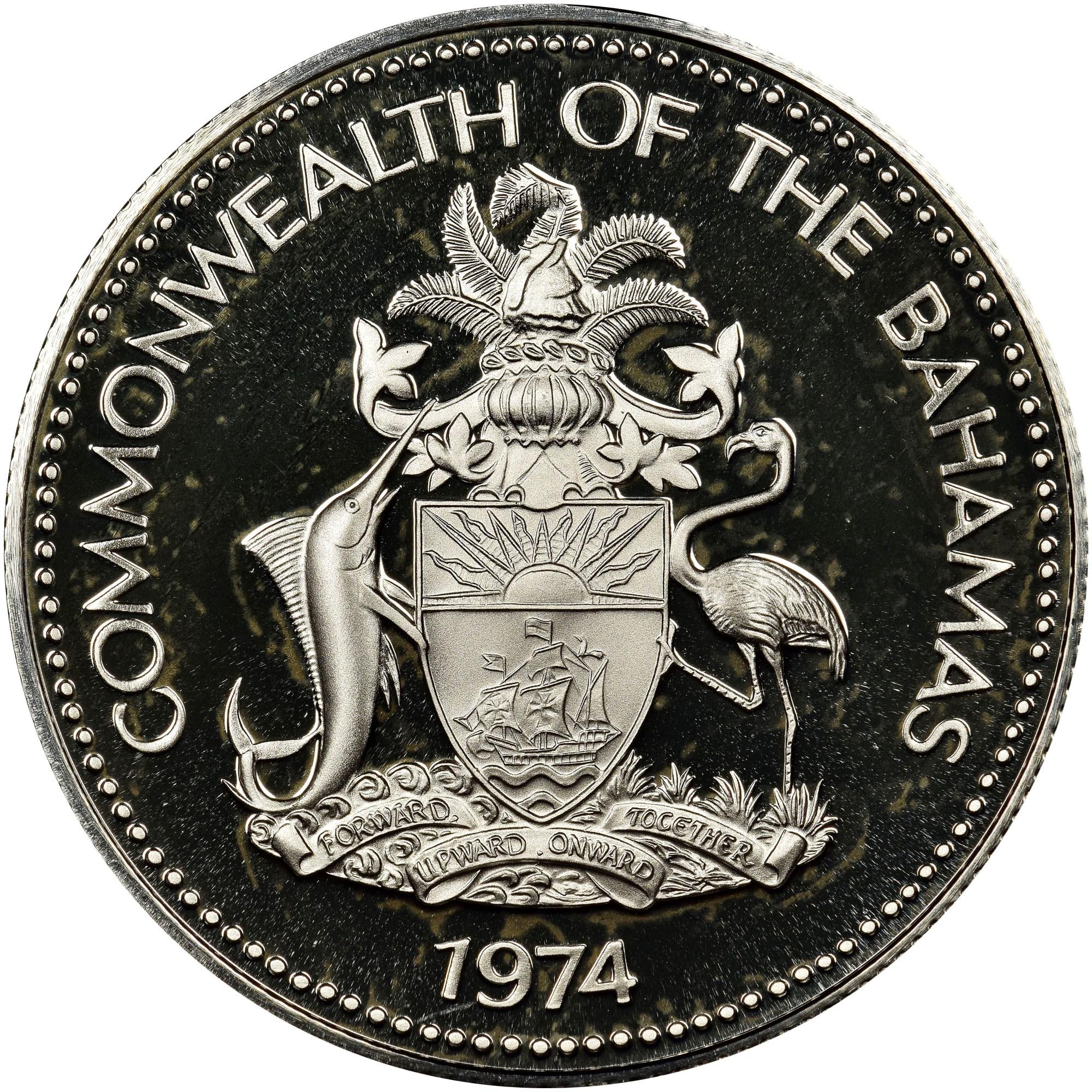 Bahamas 50 Cents obverse