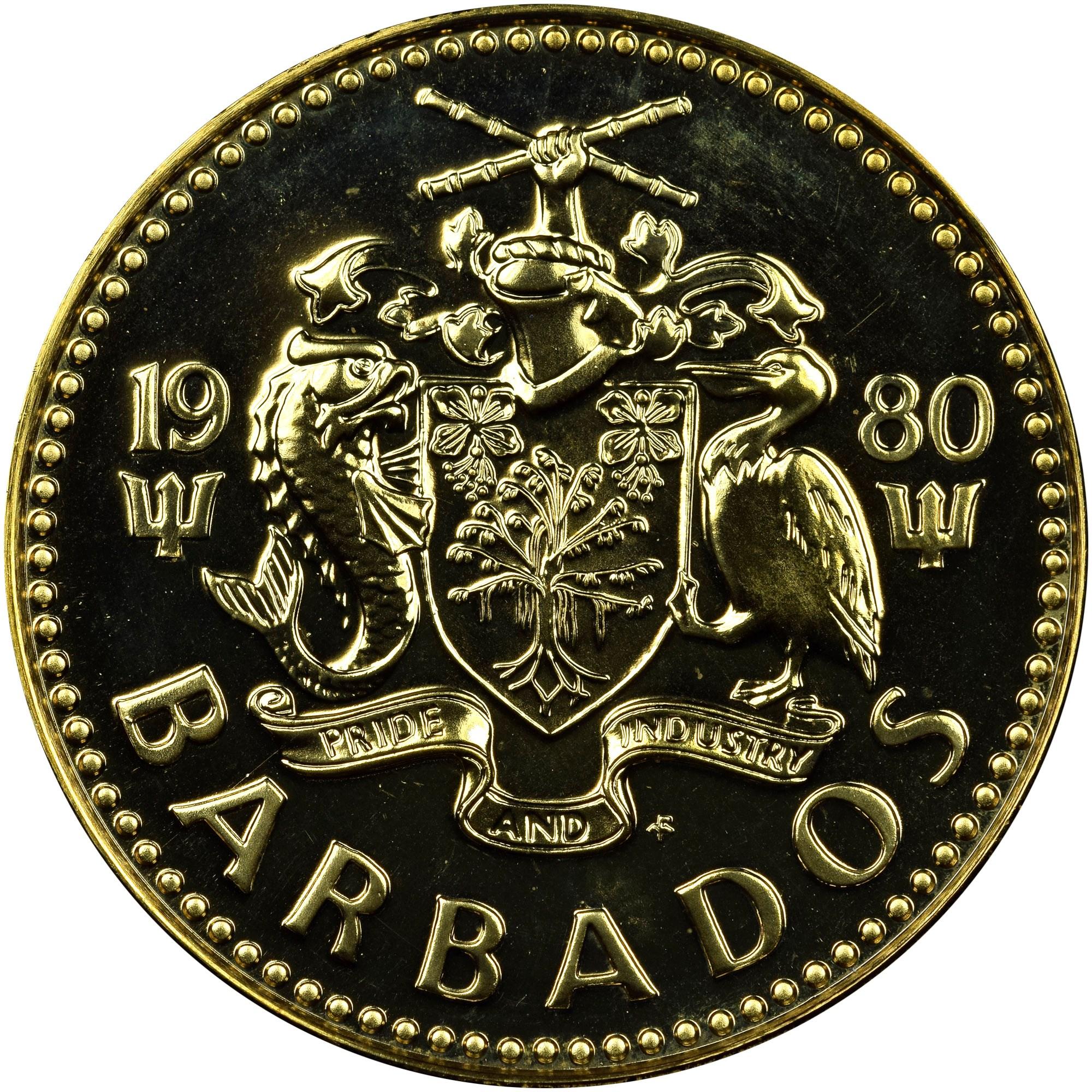 Barbados 5 Cents obverse