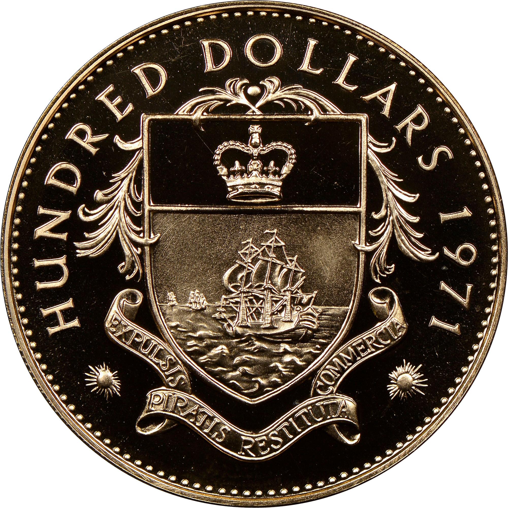 Bahamas 100 Dollars reverse