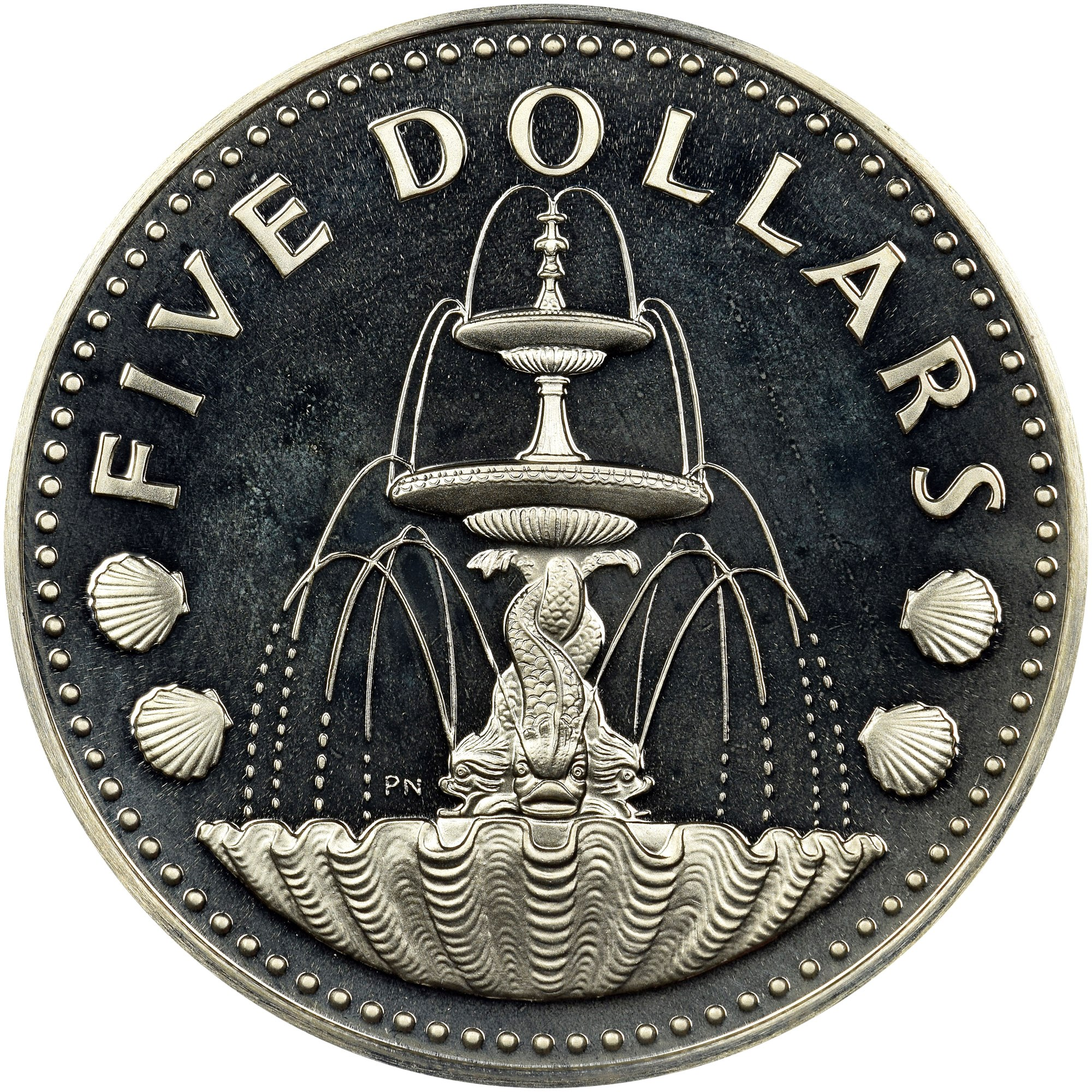 Barbados 5 Dollars reverse