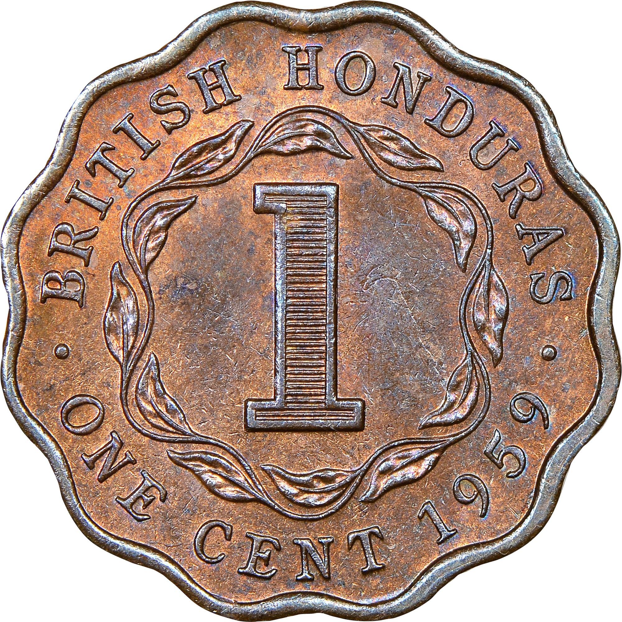 British Honduras Cent reverse