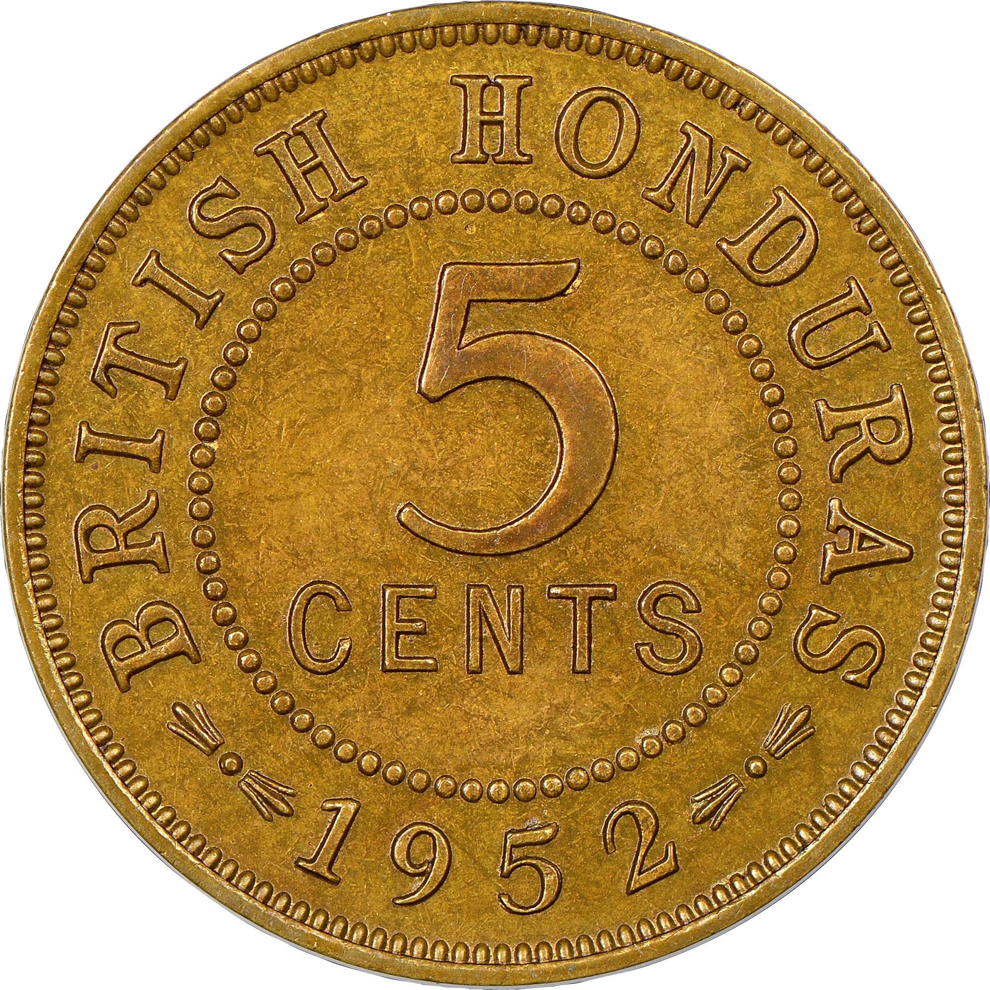 British Honduras 5 Cents reverse