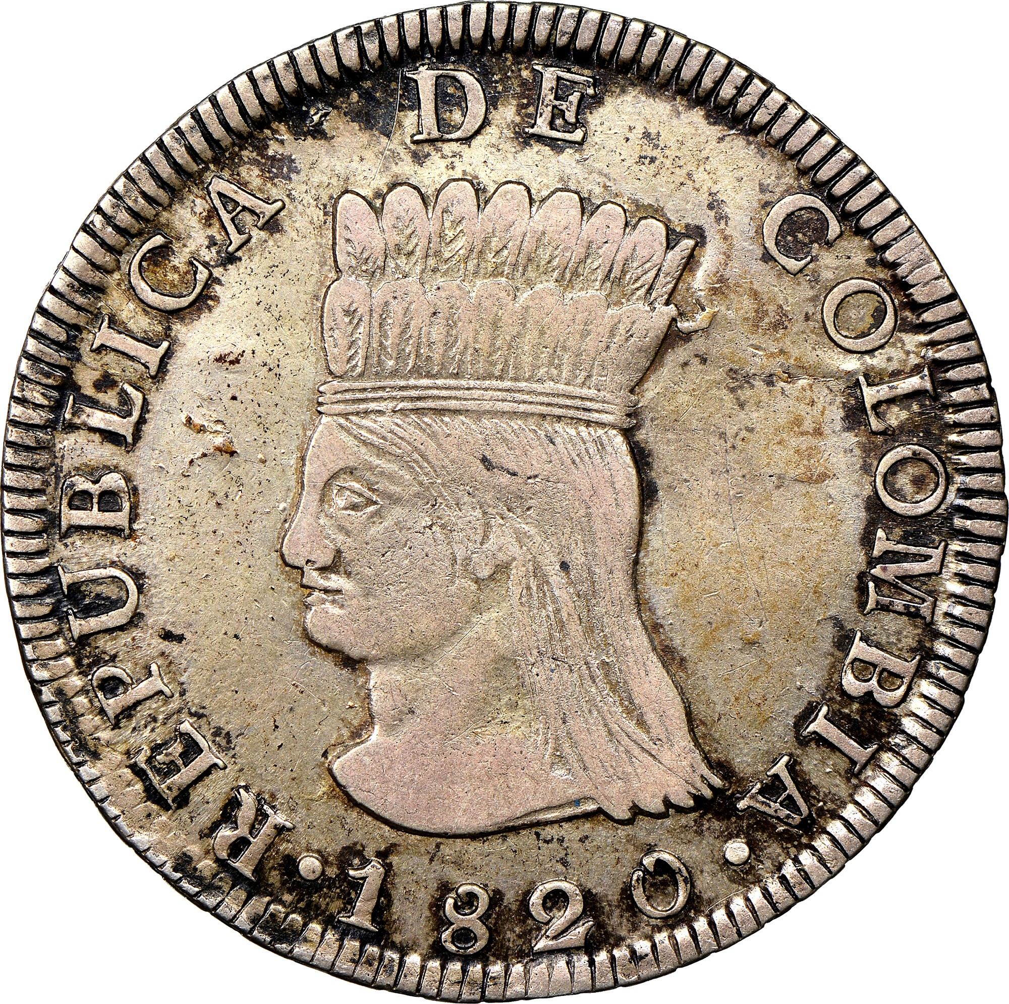 Colombia 8 Reales obverse