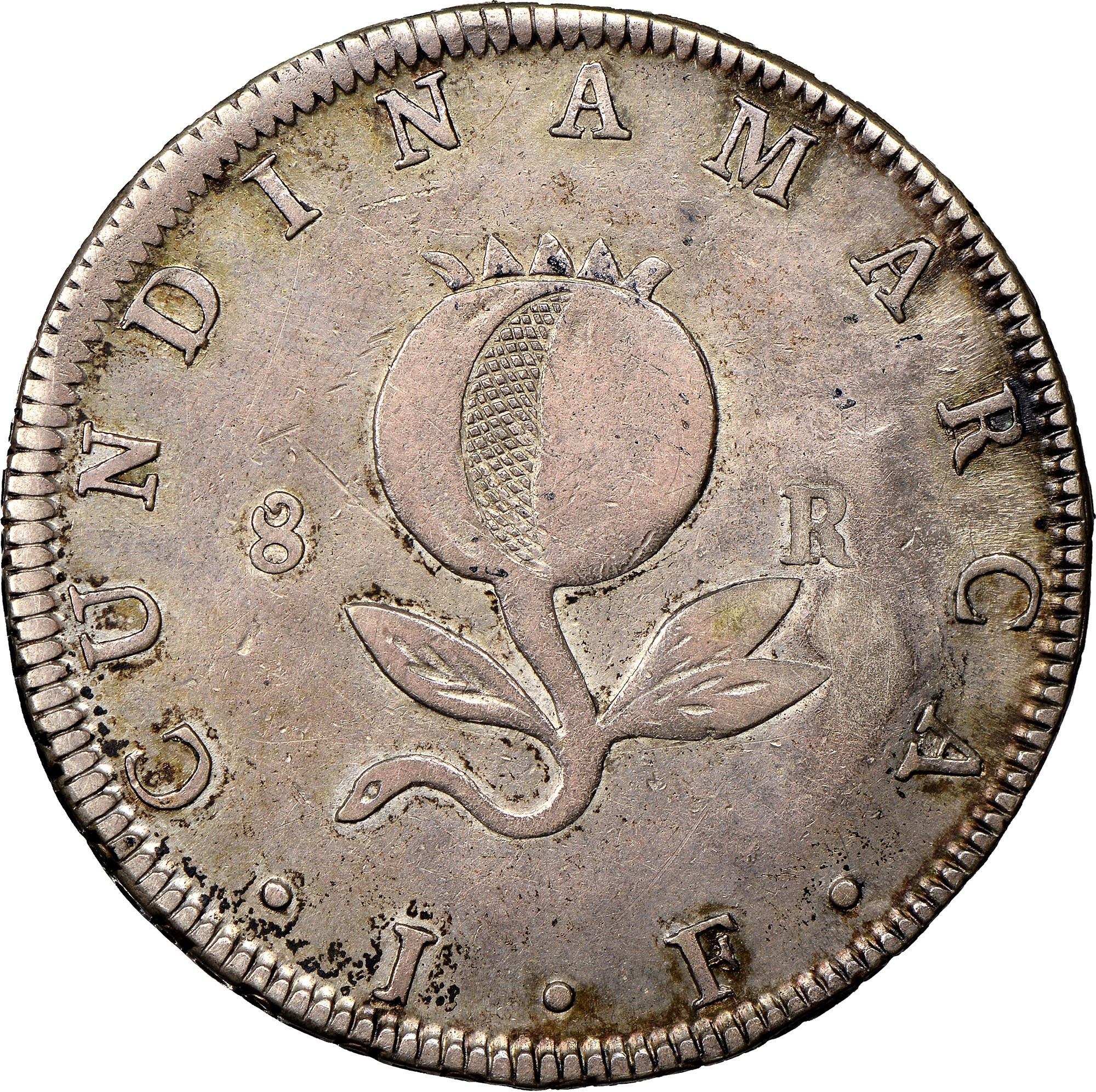 Colombia 8 Reales reverse
