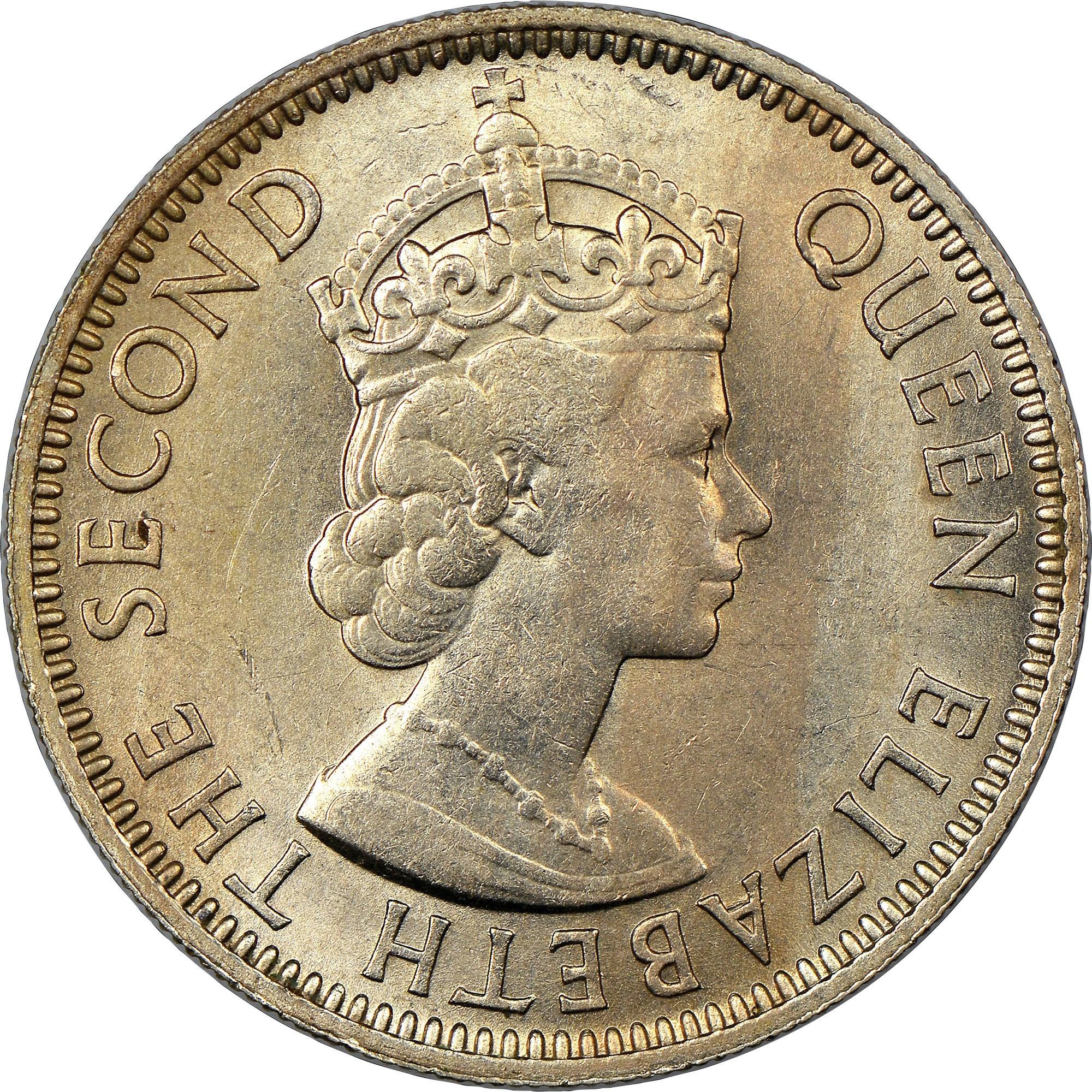 British Honduras 25 Cents obverse