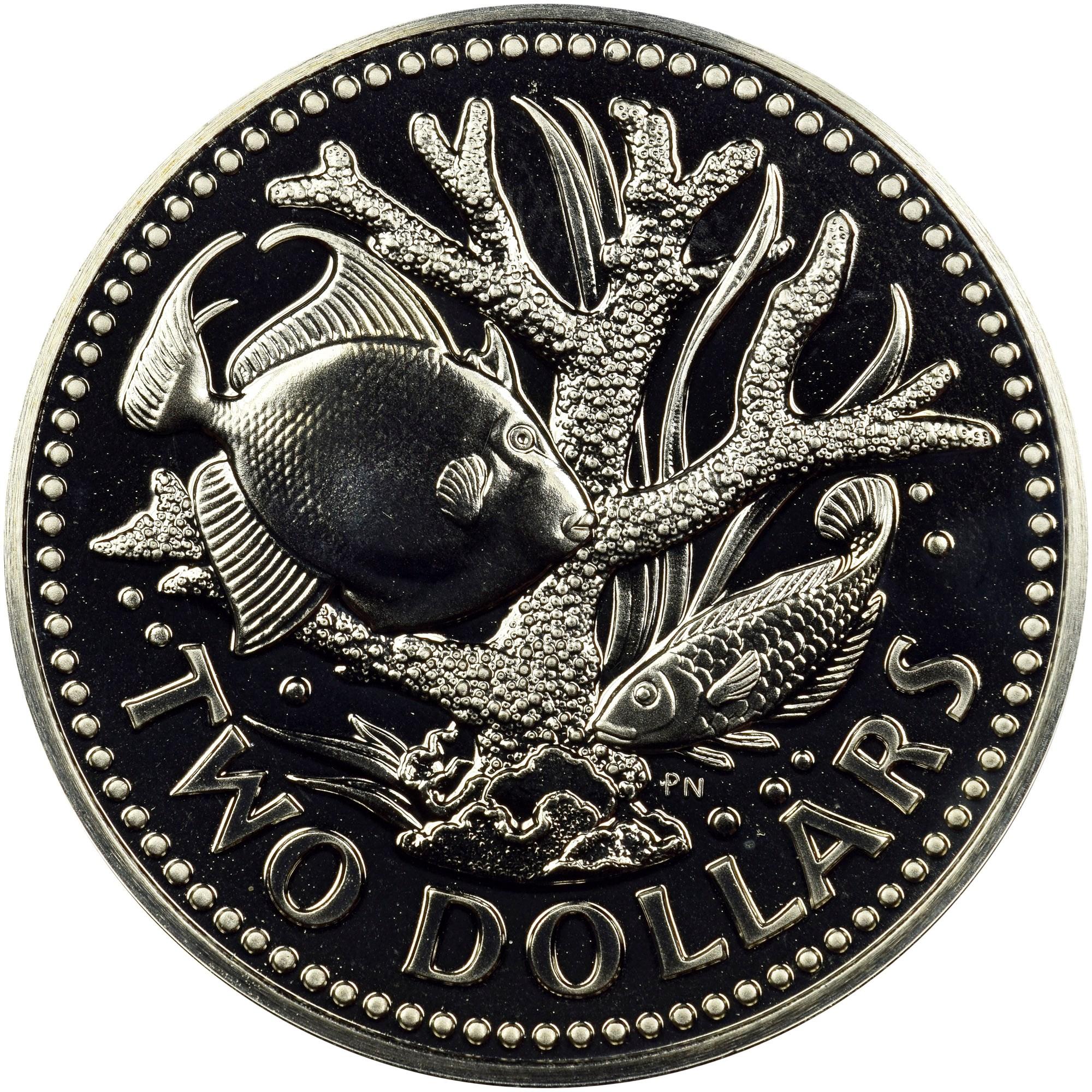 Barbados 2 Dollars reverse