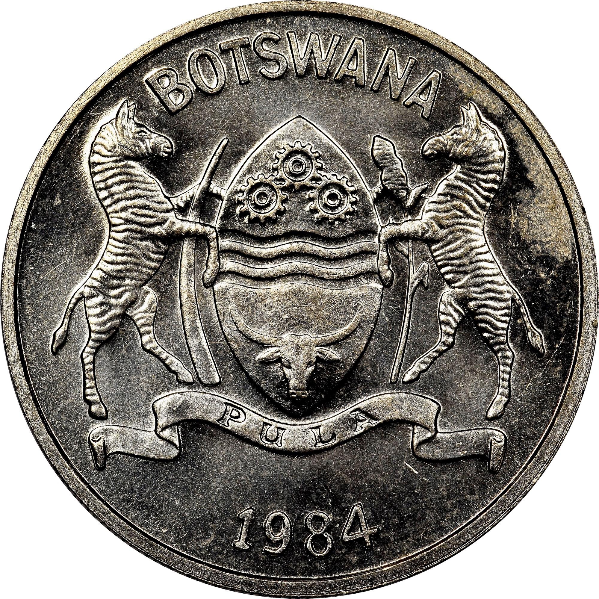 Botswana 25 Thebe obverse