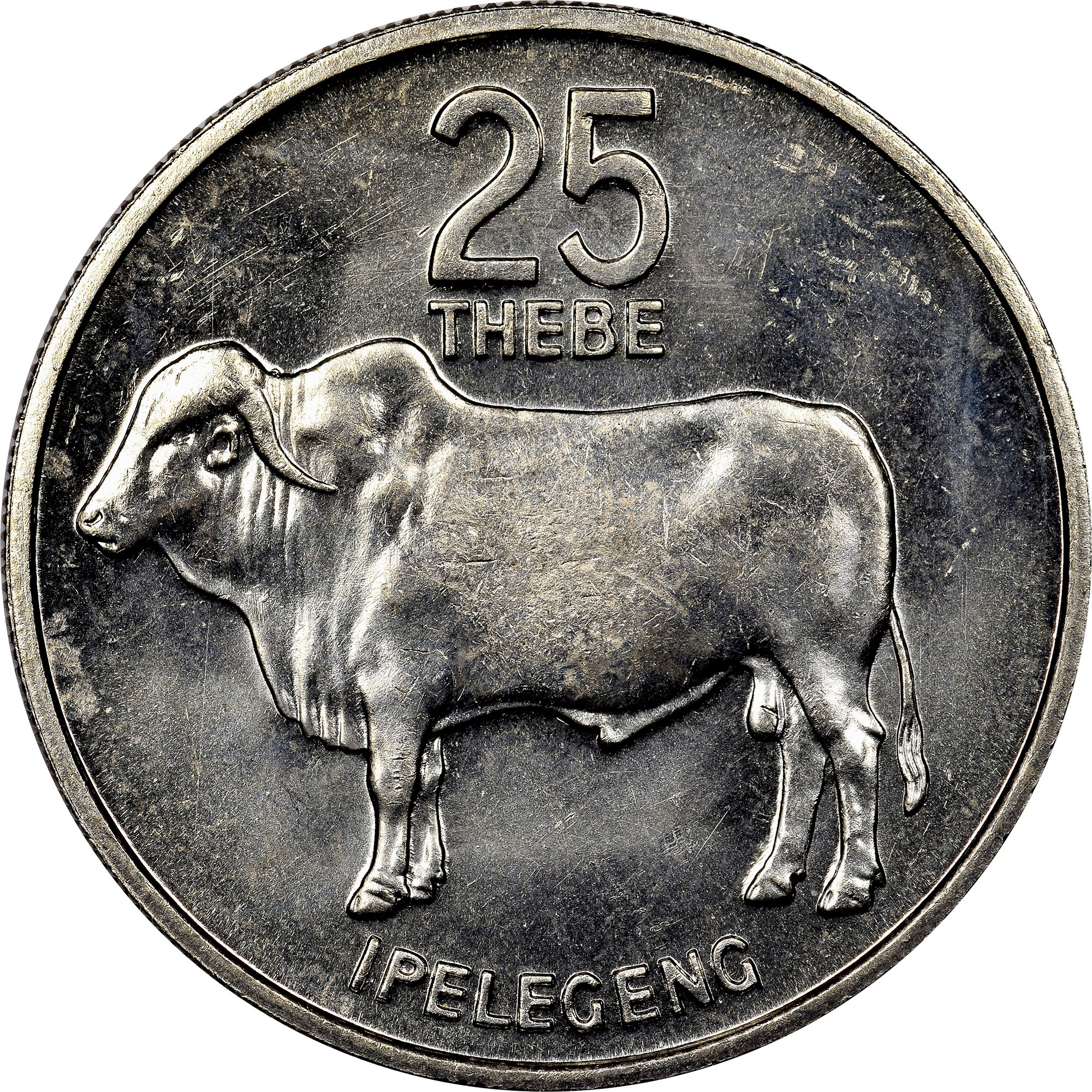 Botswana 25 Thebe reverse