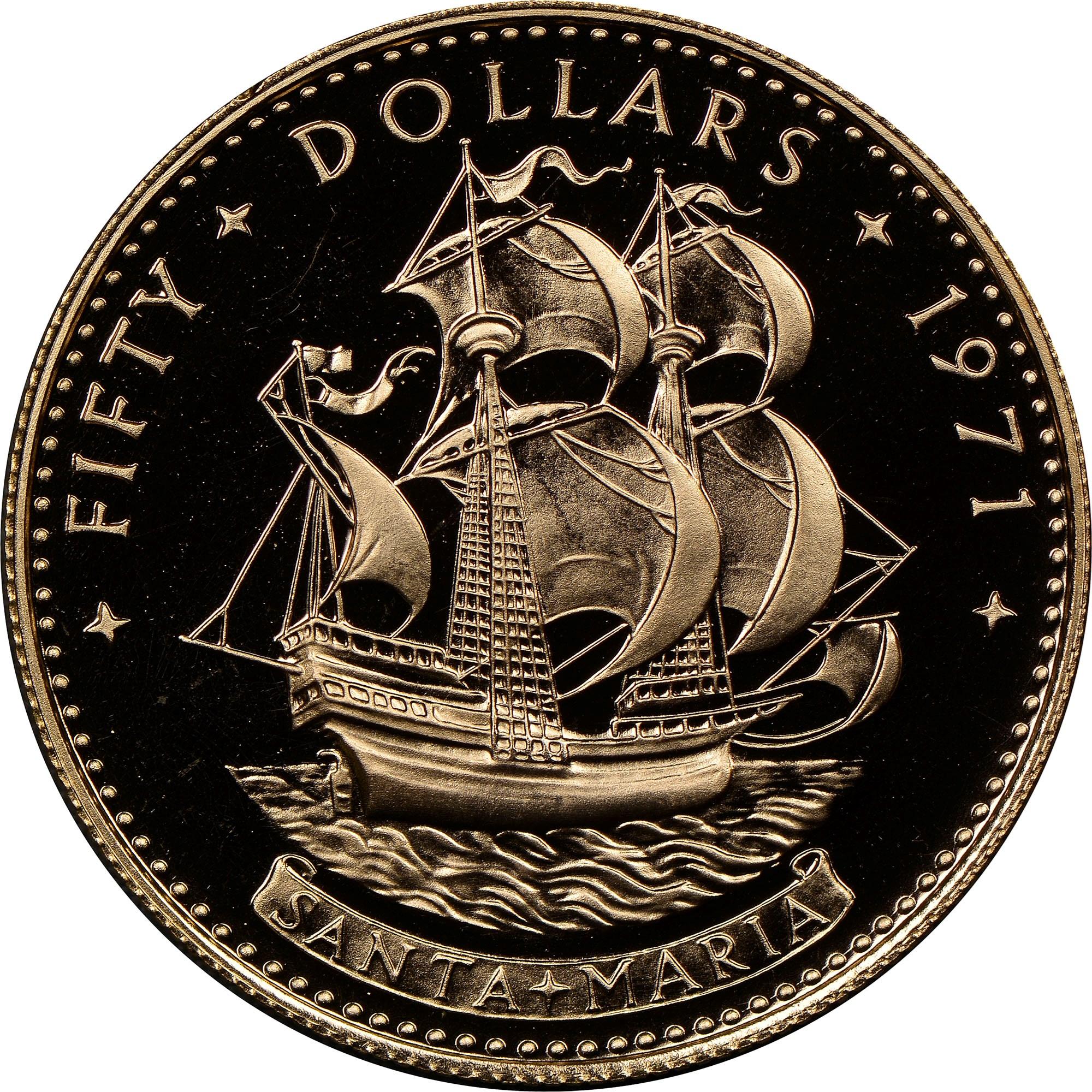 Bahamas 50 Dollars reverse