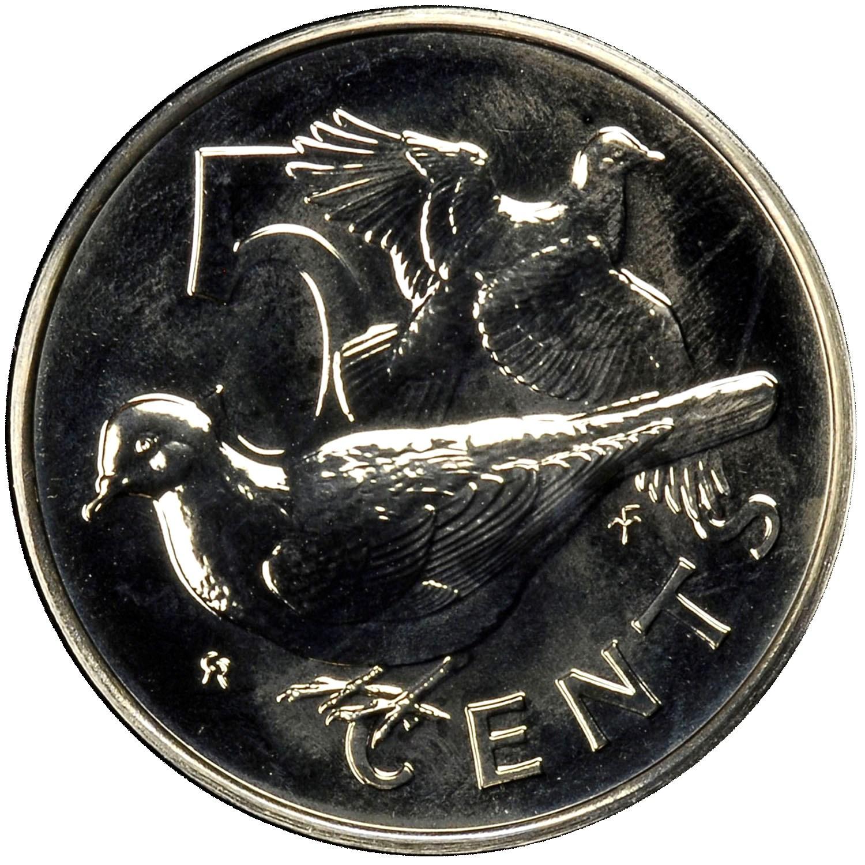 British Virgin Islands 5 Cents reverse