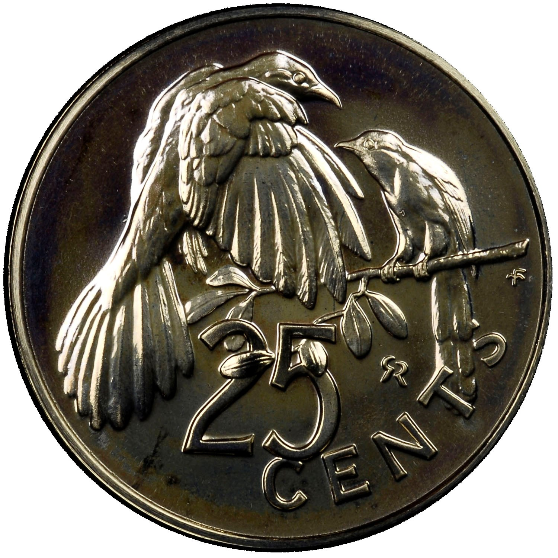 British Virgin Islands 25 Cents reverse