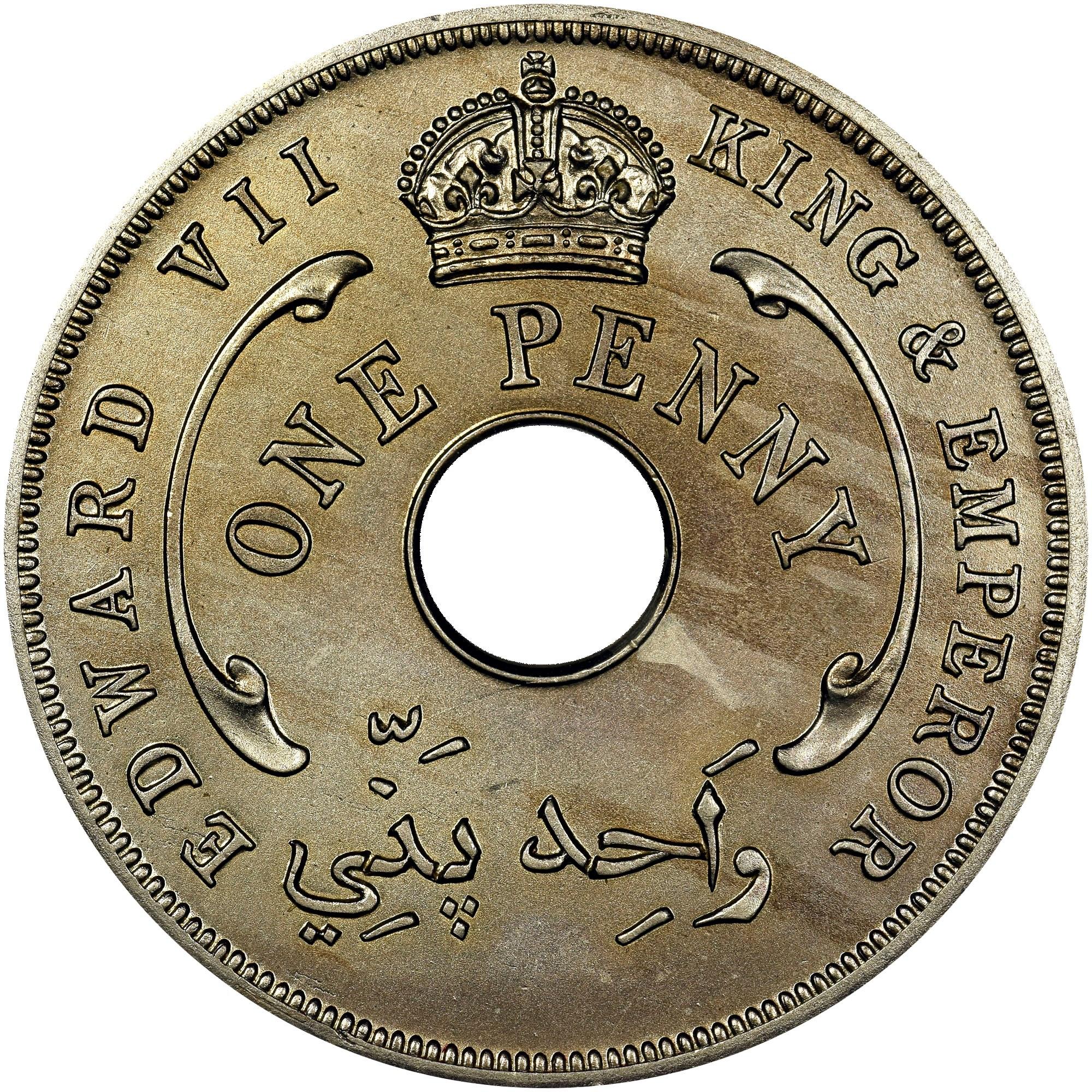 British West Africa Penny obverse