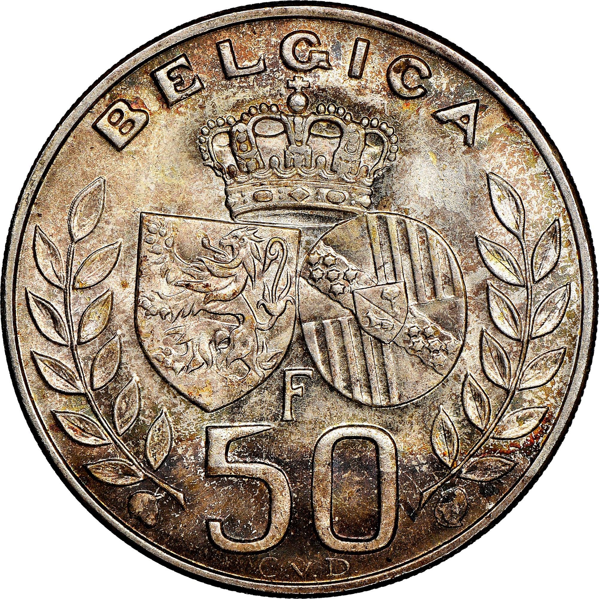 Belgium 50 Francs reverse