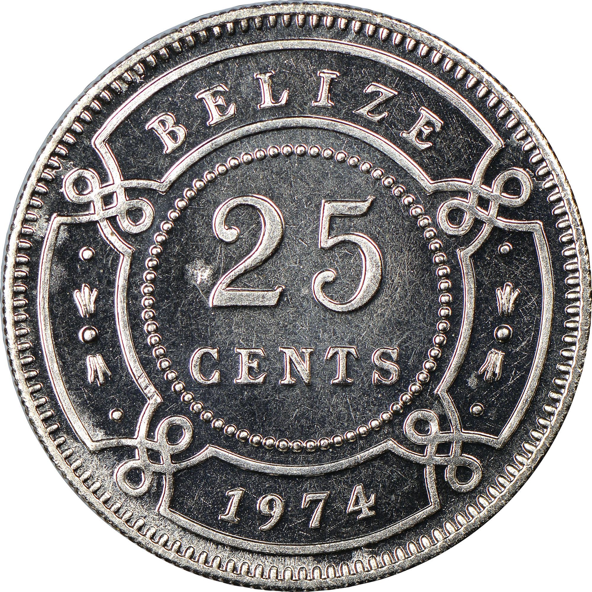 Belize 25 Cents reverse