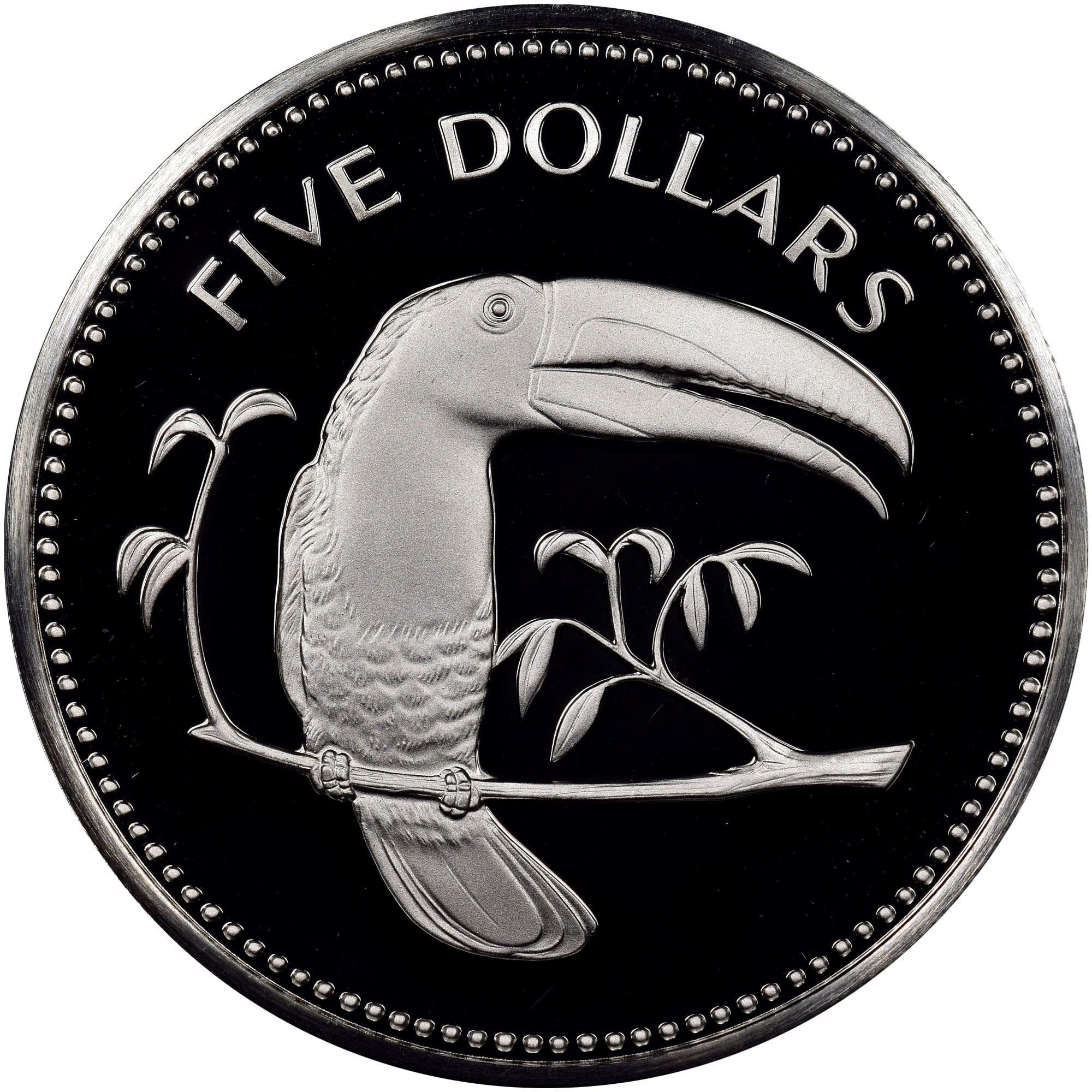 Belize 5 Dollars reverse